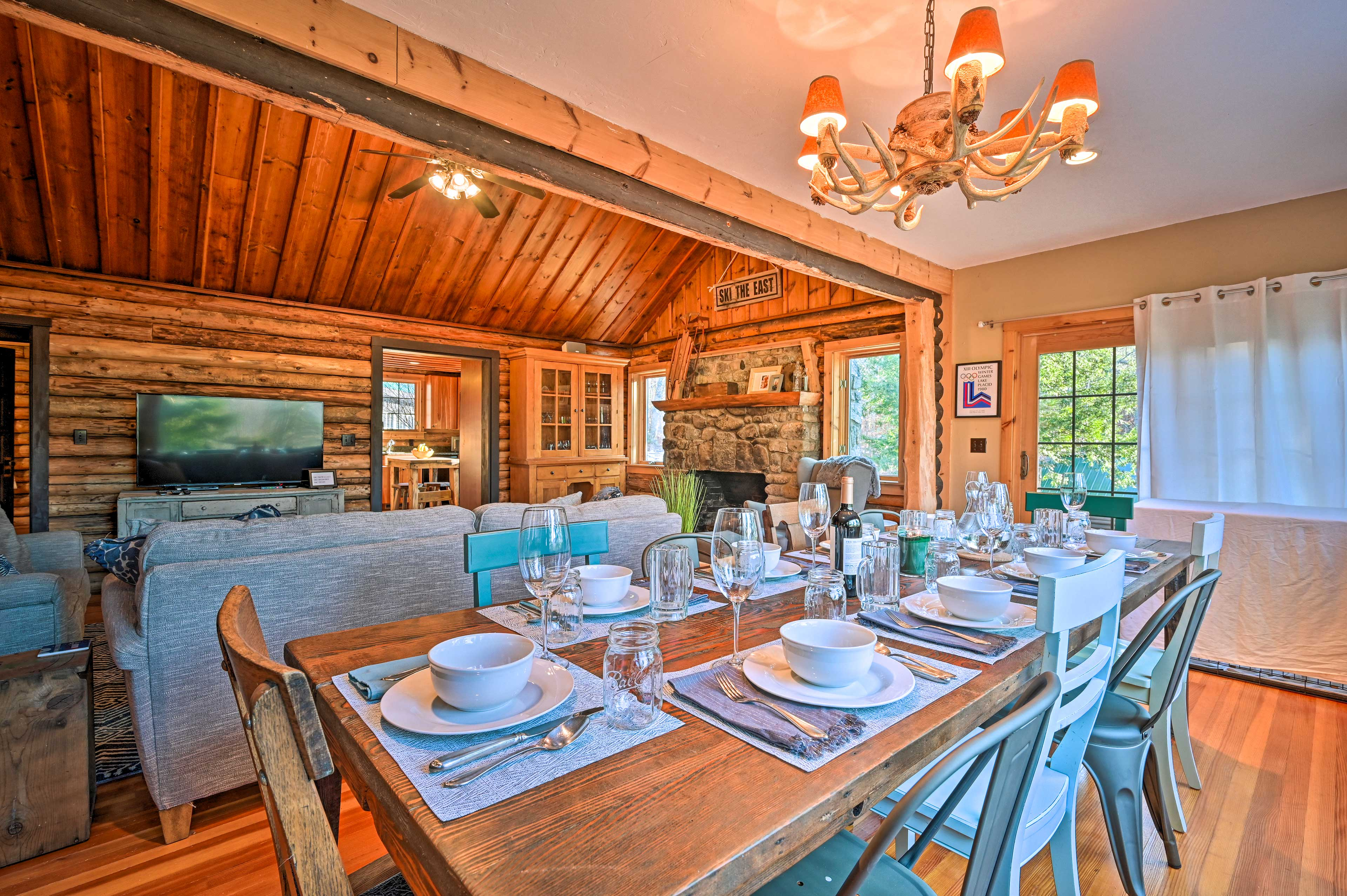 Dine in style along this rustic dinner table!