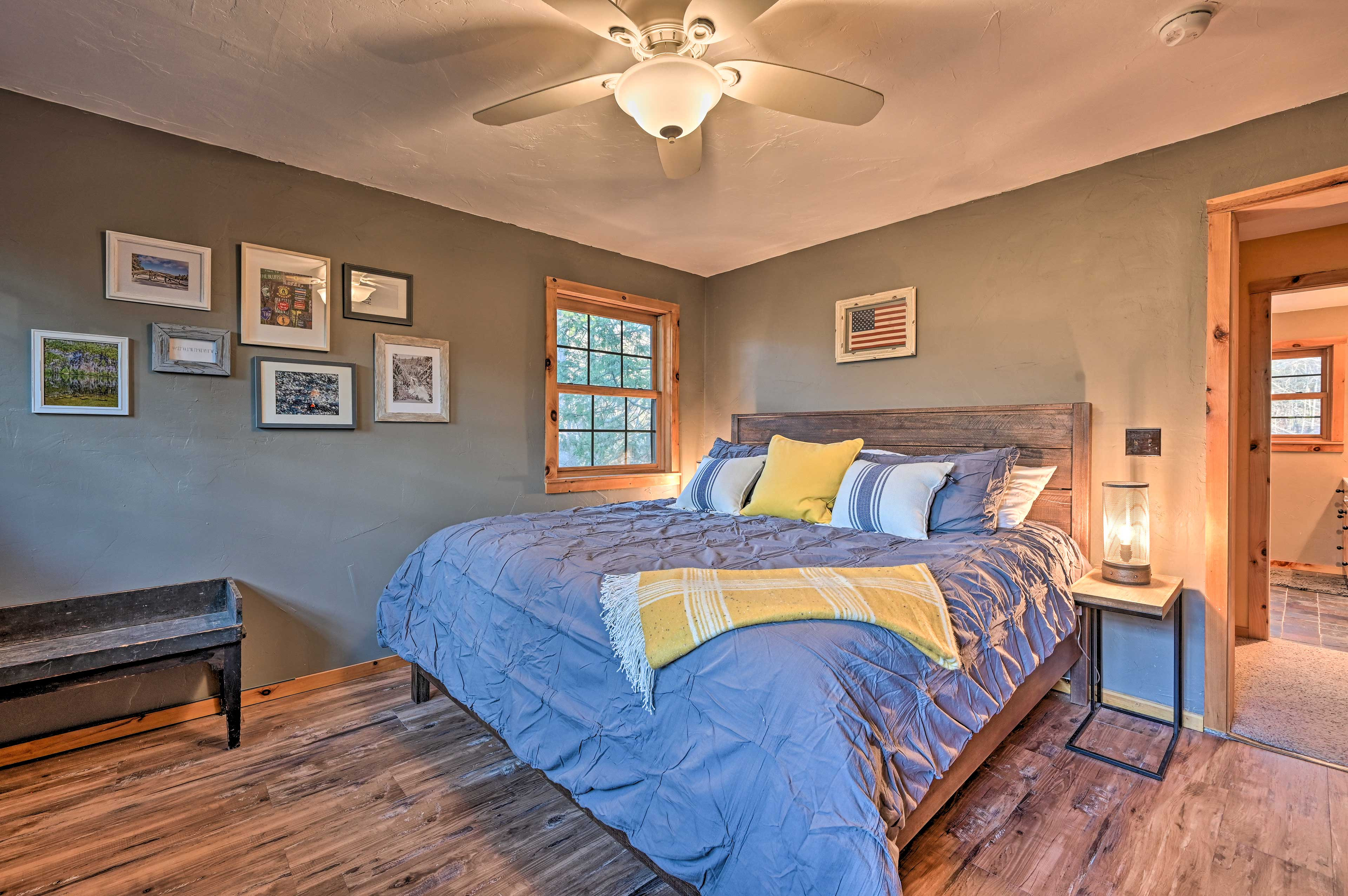 The 4-bedroom, 2-bathroom vacation rental is brimming with character.