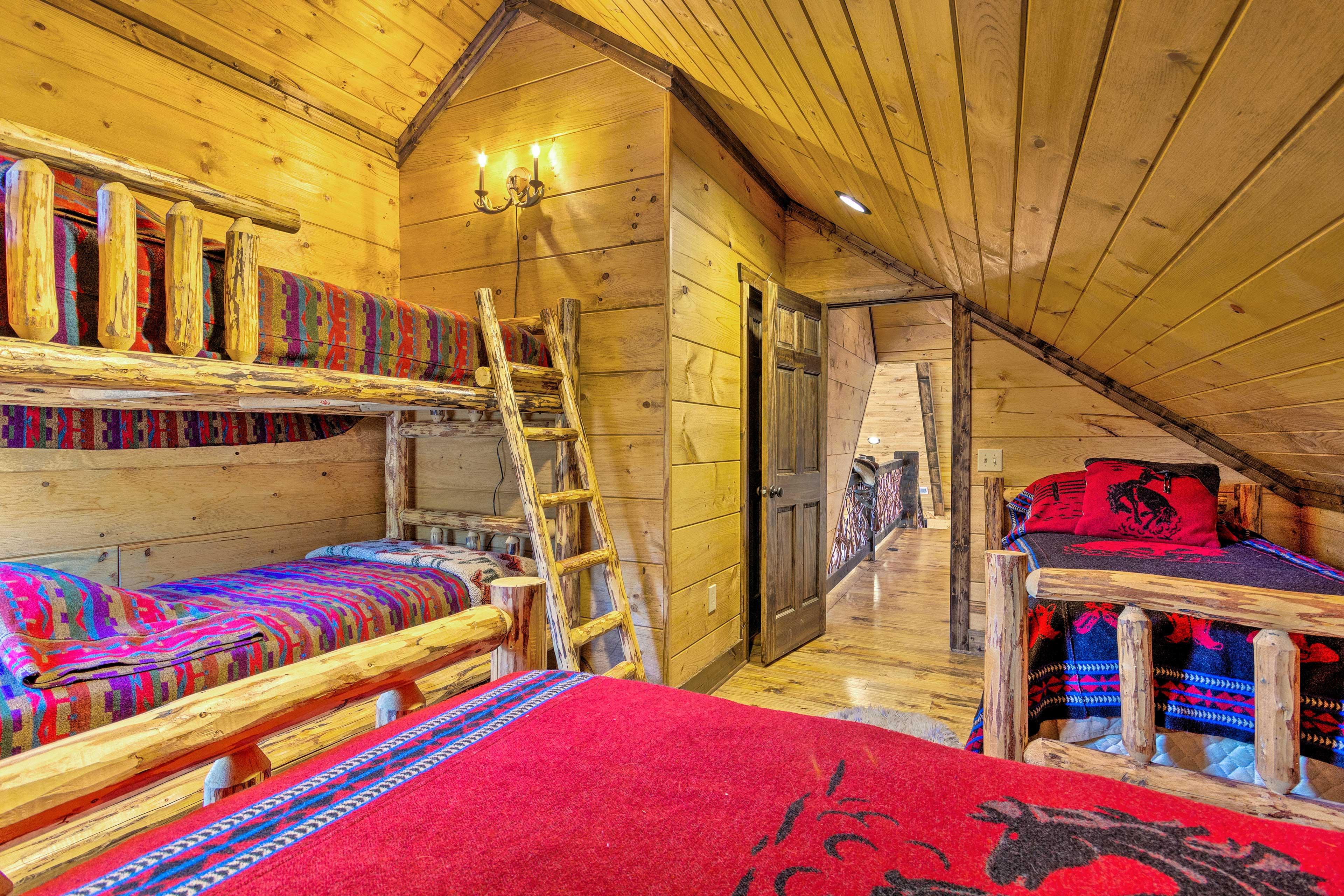 A bunk room calls for a sleepover.