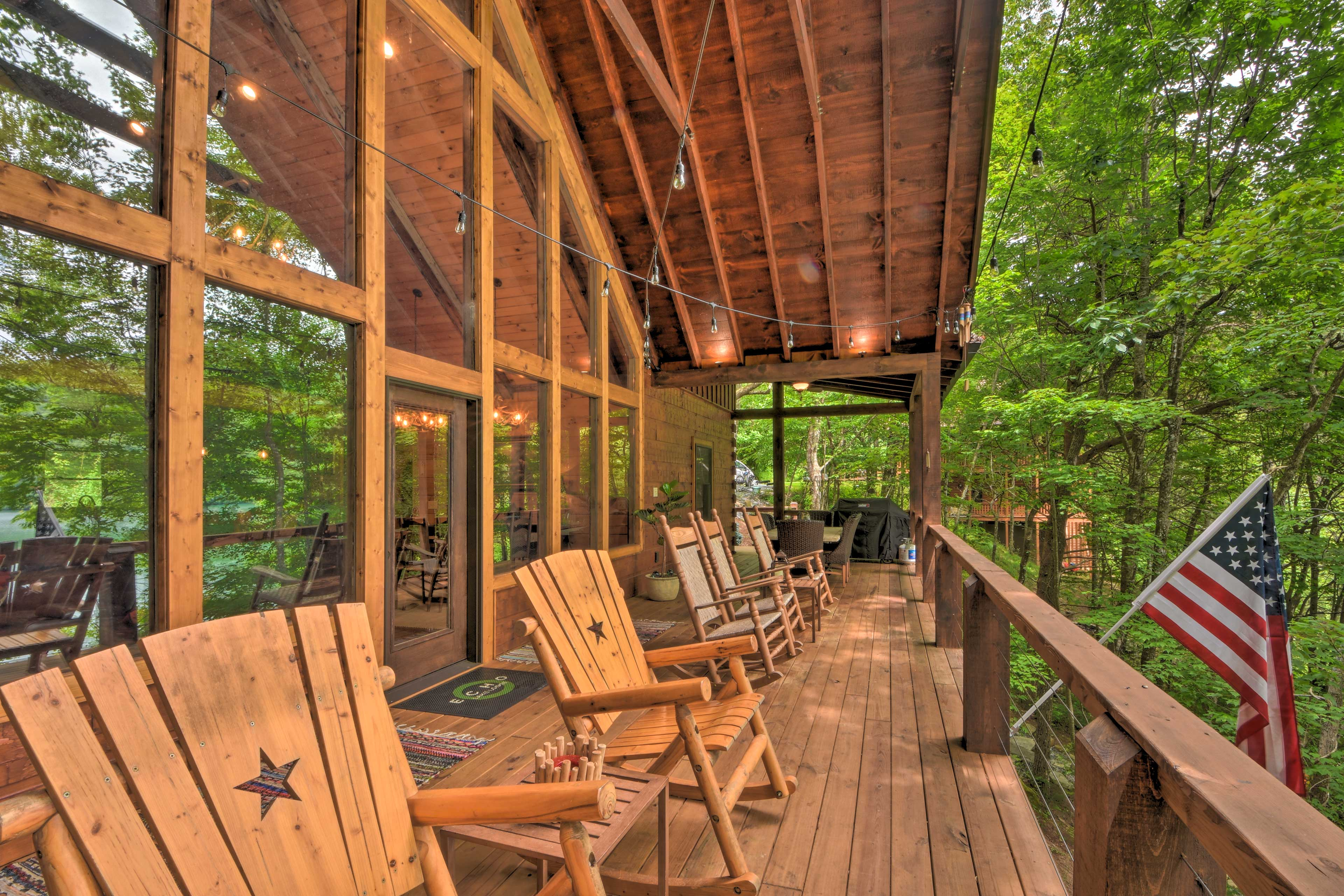 Sit back and relax on the deck.