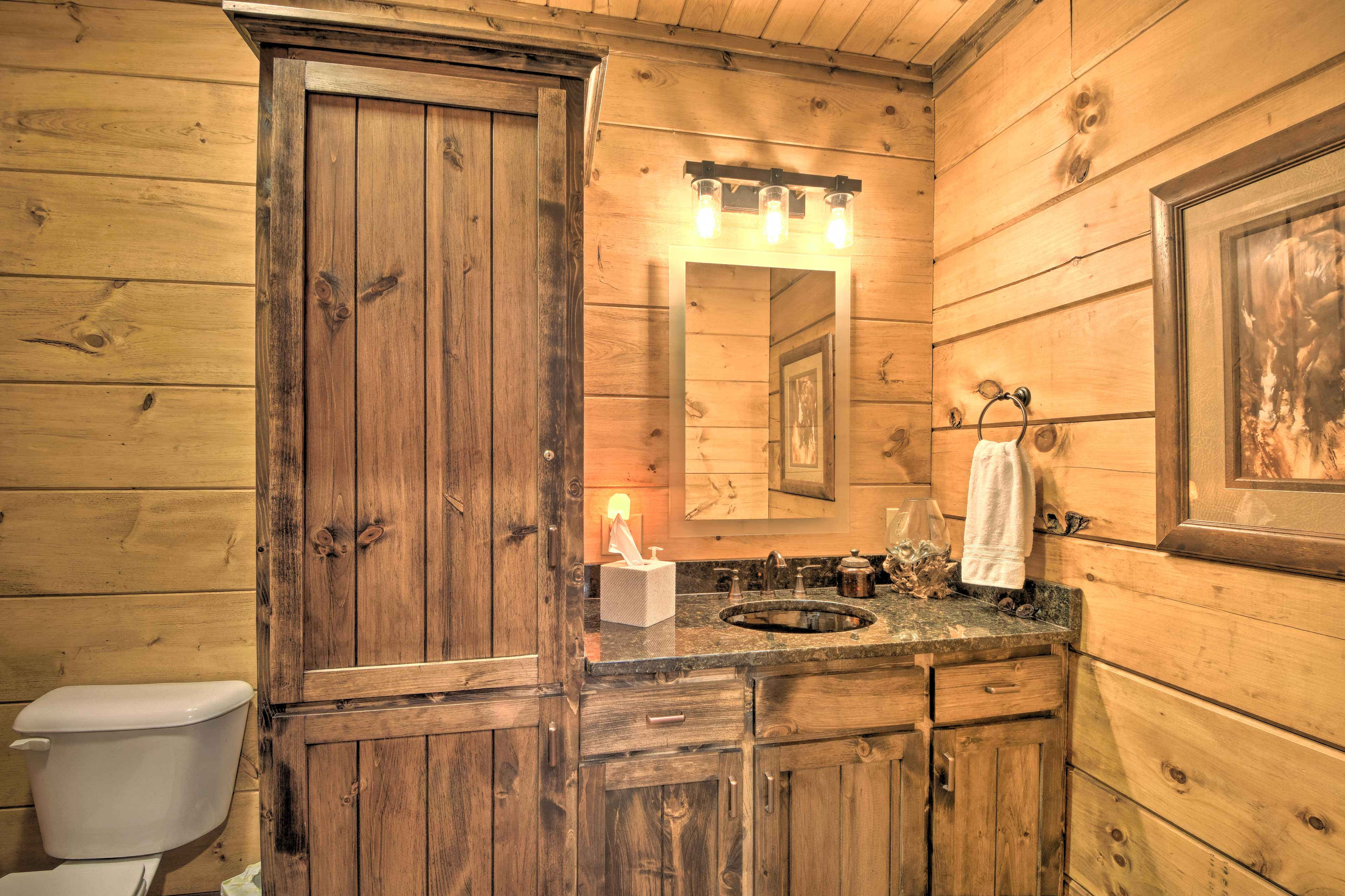 Get ready for the day at this bathroom vanity.