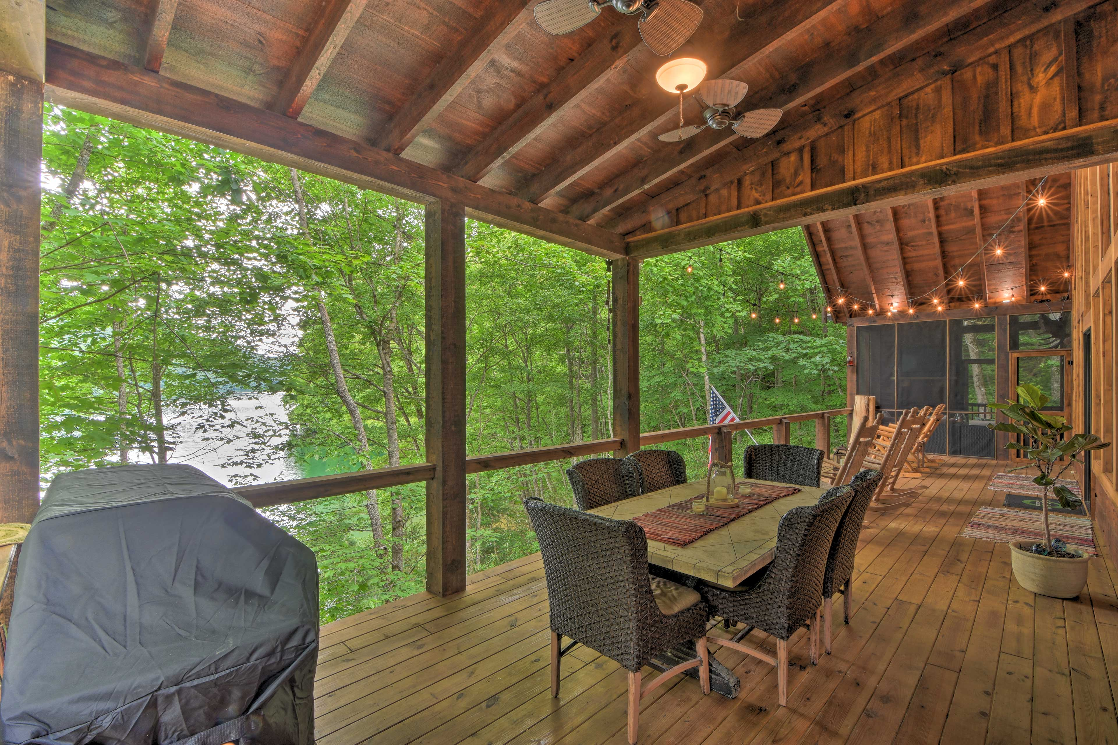 Sip your morning coffee as you sit on the deck.