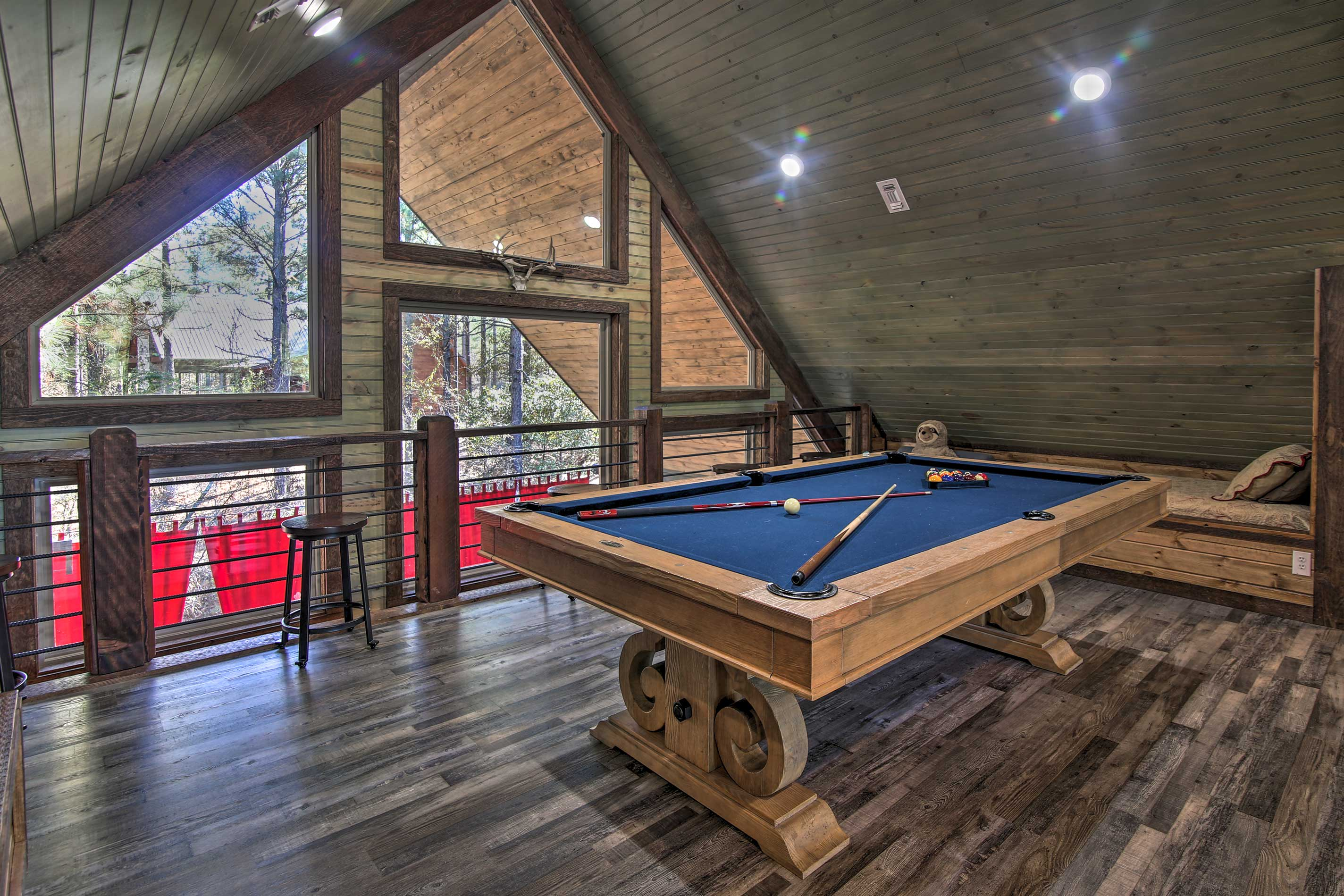 Challenge a loved one to a friendly game of pool!
