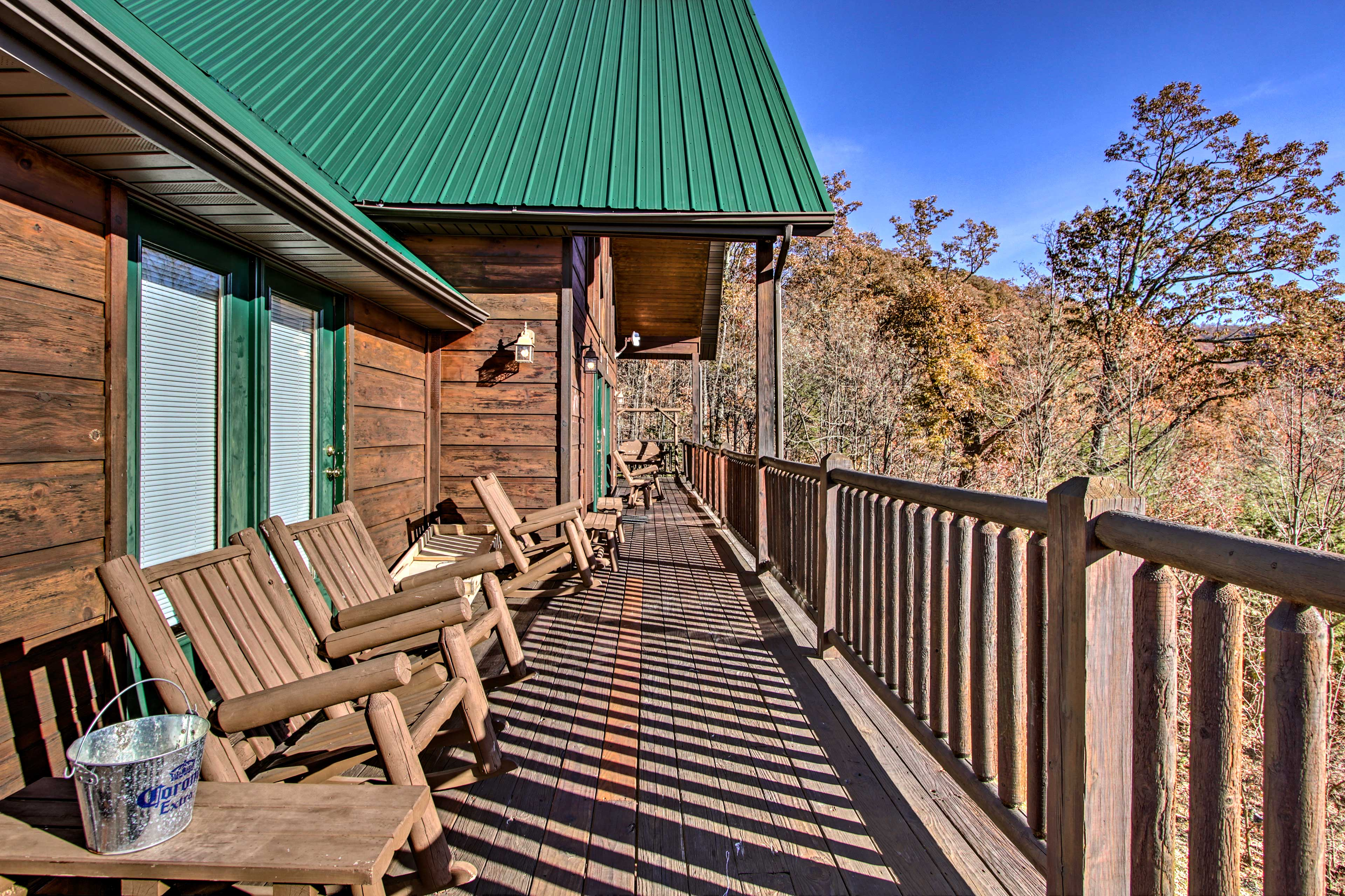 Take in the crisp alpine air from the furnished deck.