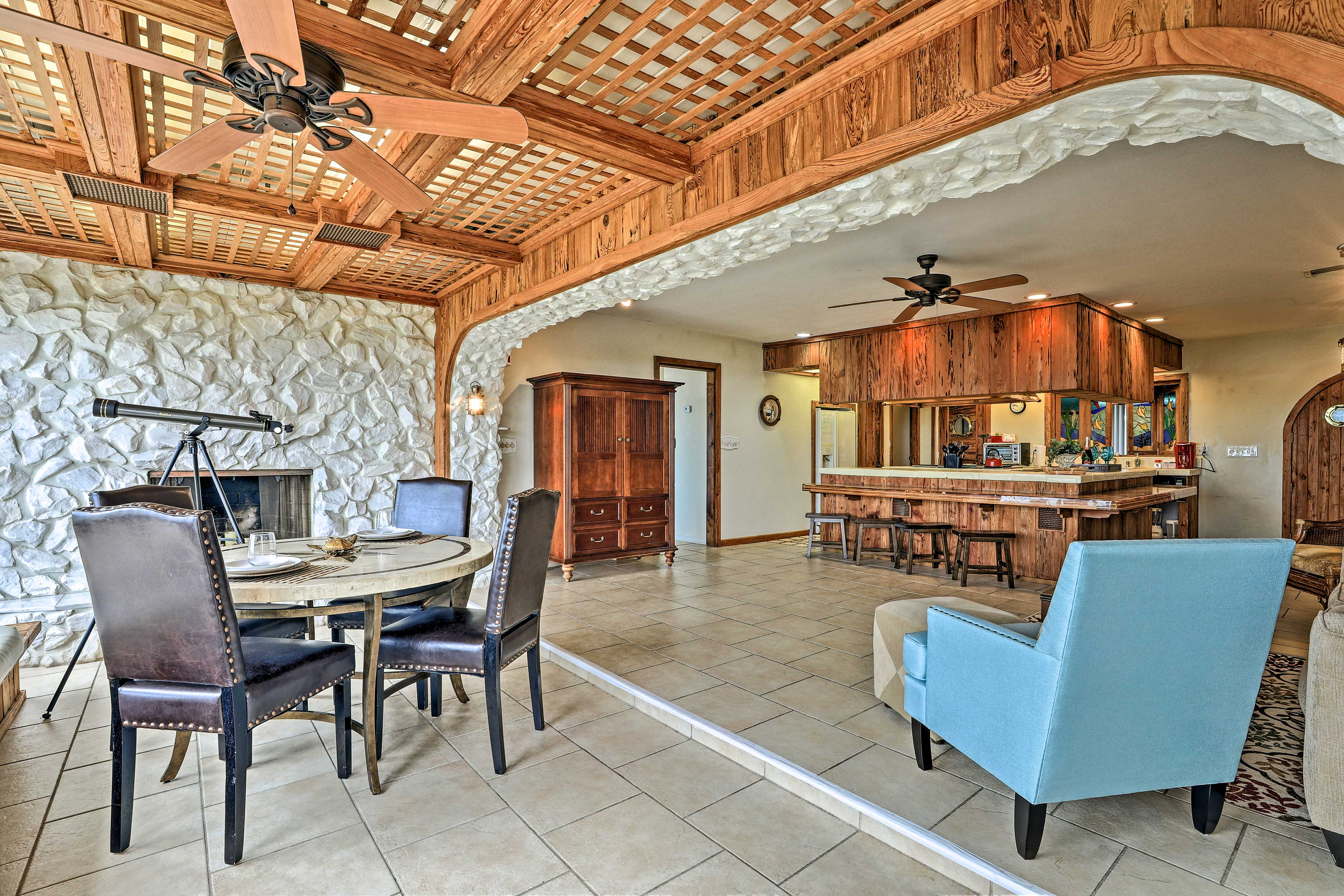 Stay at this 2-bed, 2-bath vacation rental for a home-away-from-home experience.