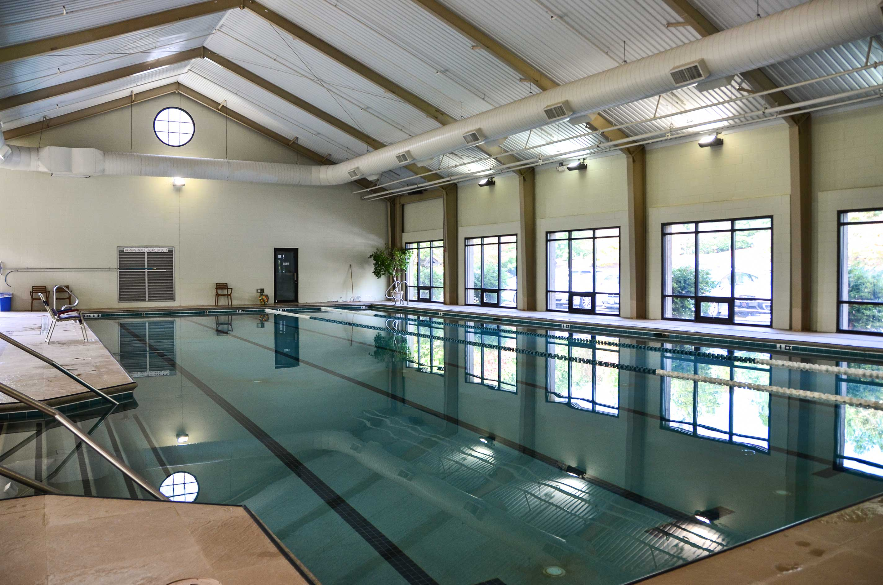 Even on rainy days you can make a splash at this indoor pool!
