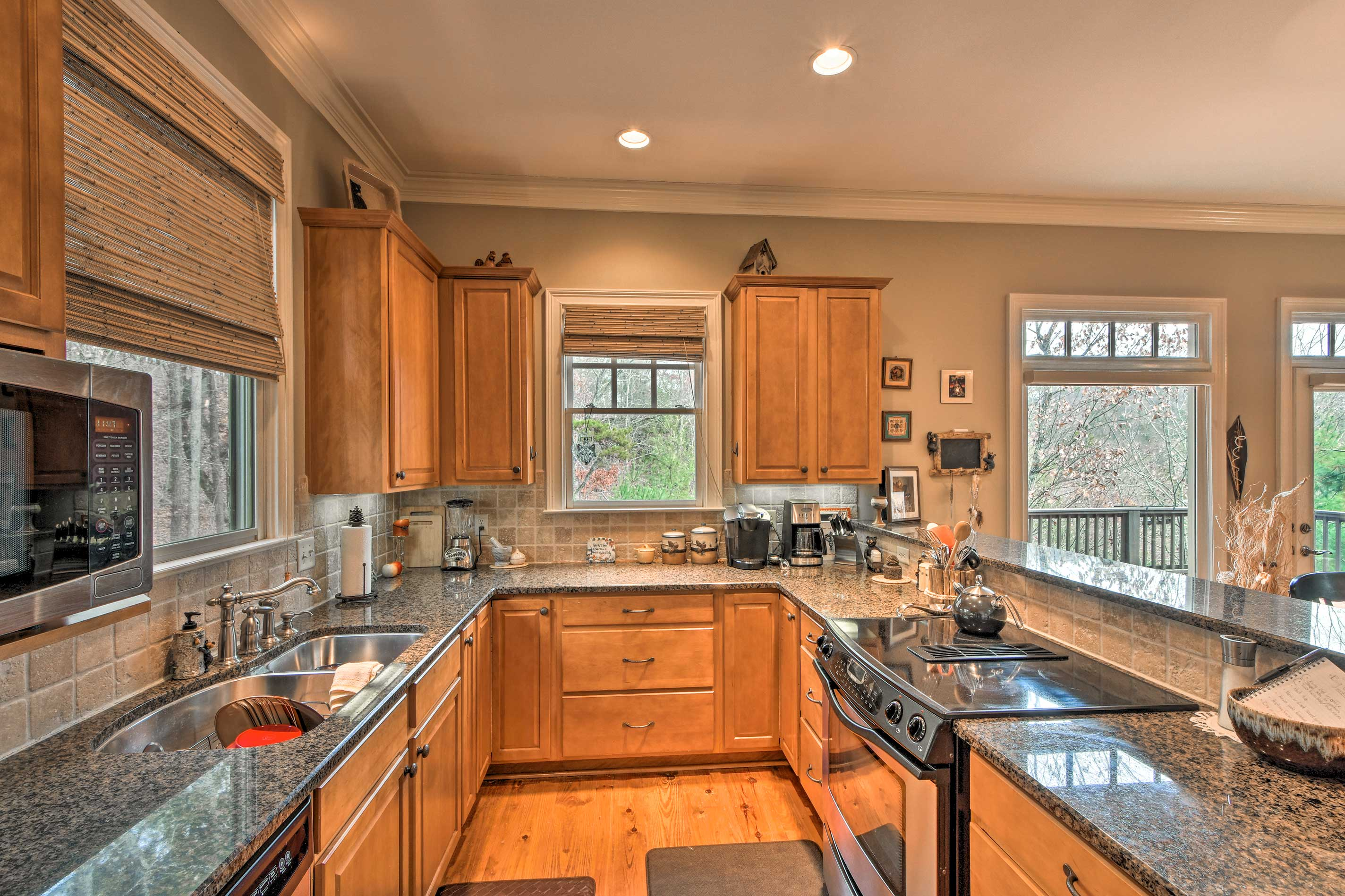 This kitchen features all of the bells and whistles!