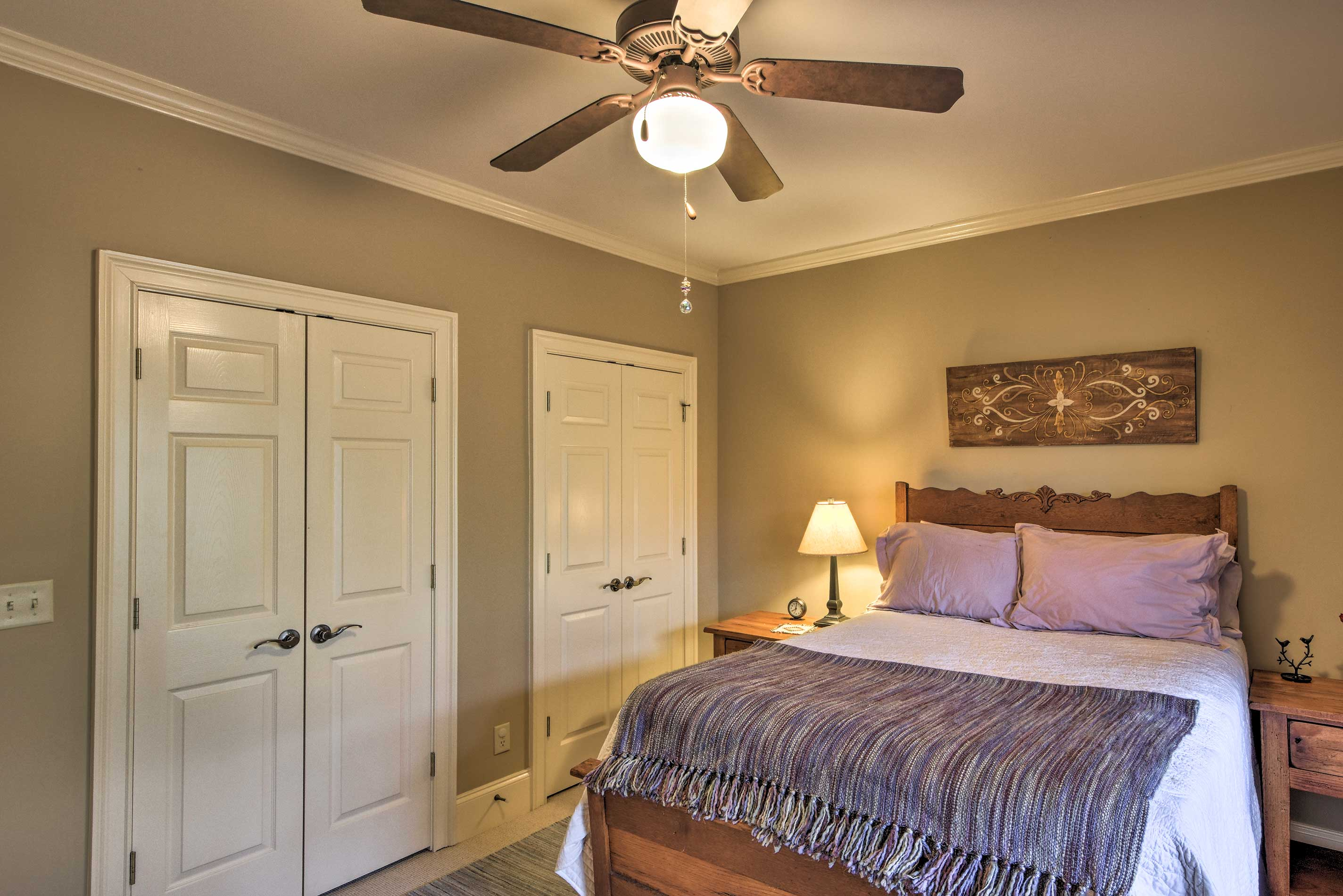 There's ample storage space throughout the home.