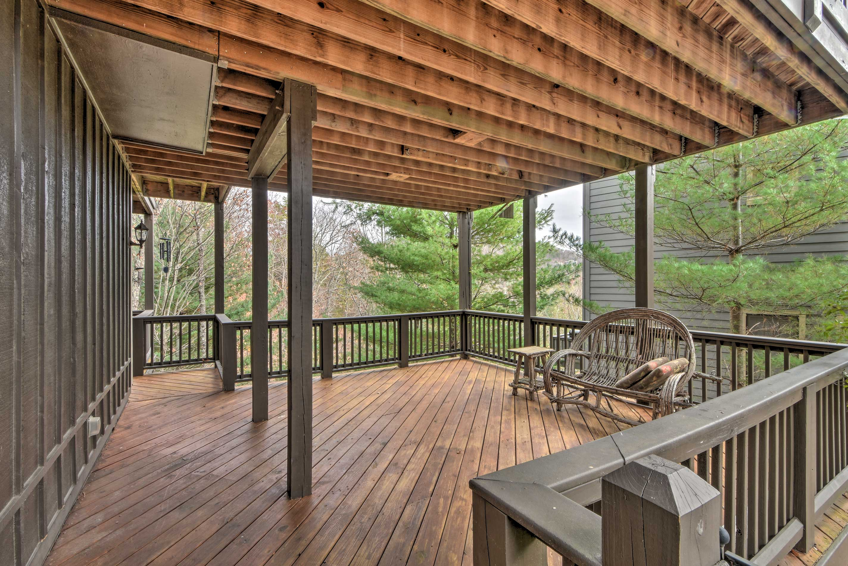 Unwind on the lower-level deck.