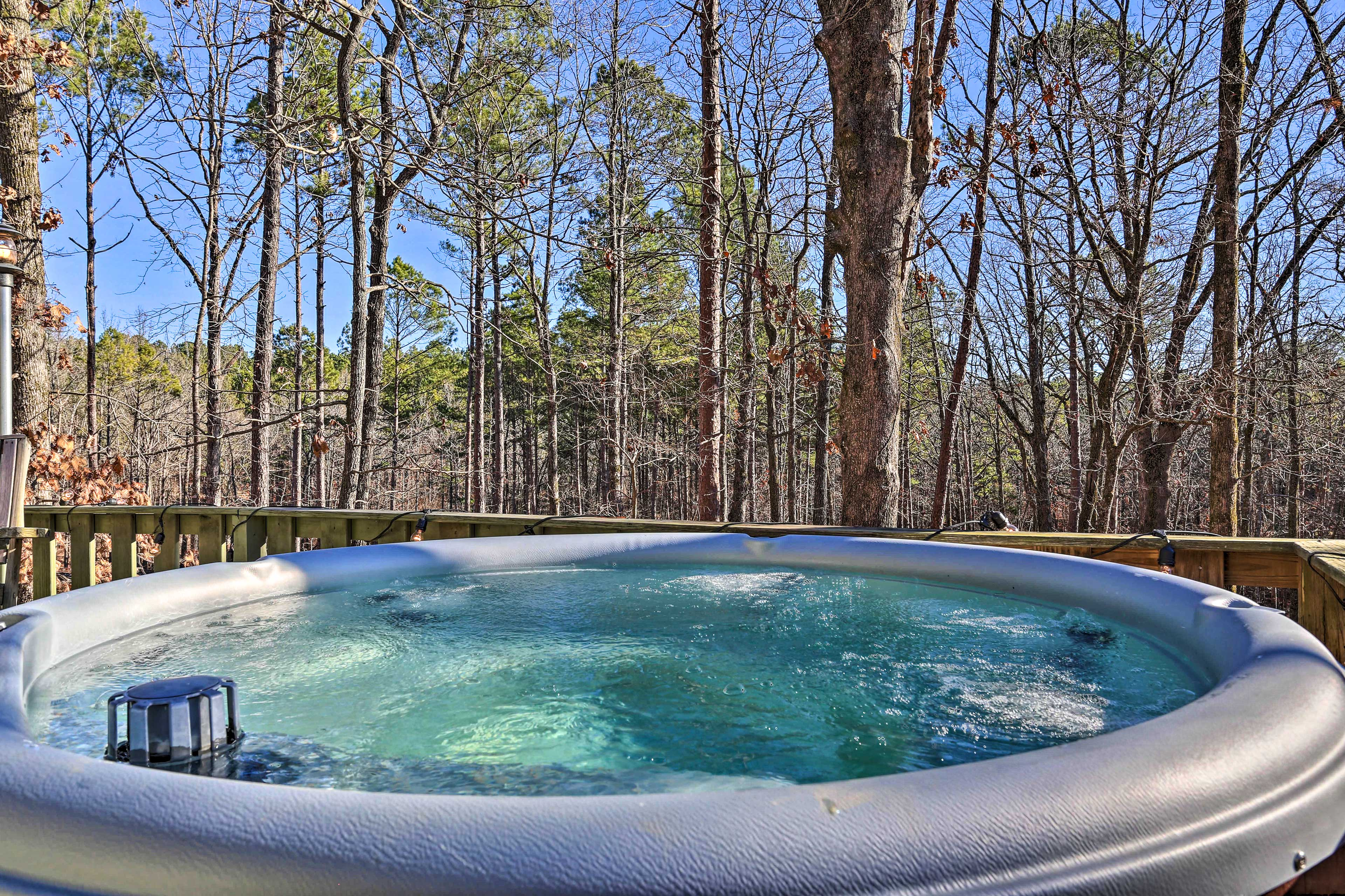 Start your days with a soothing soak in the hot tub!