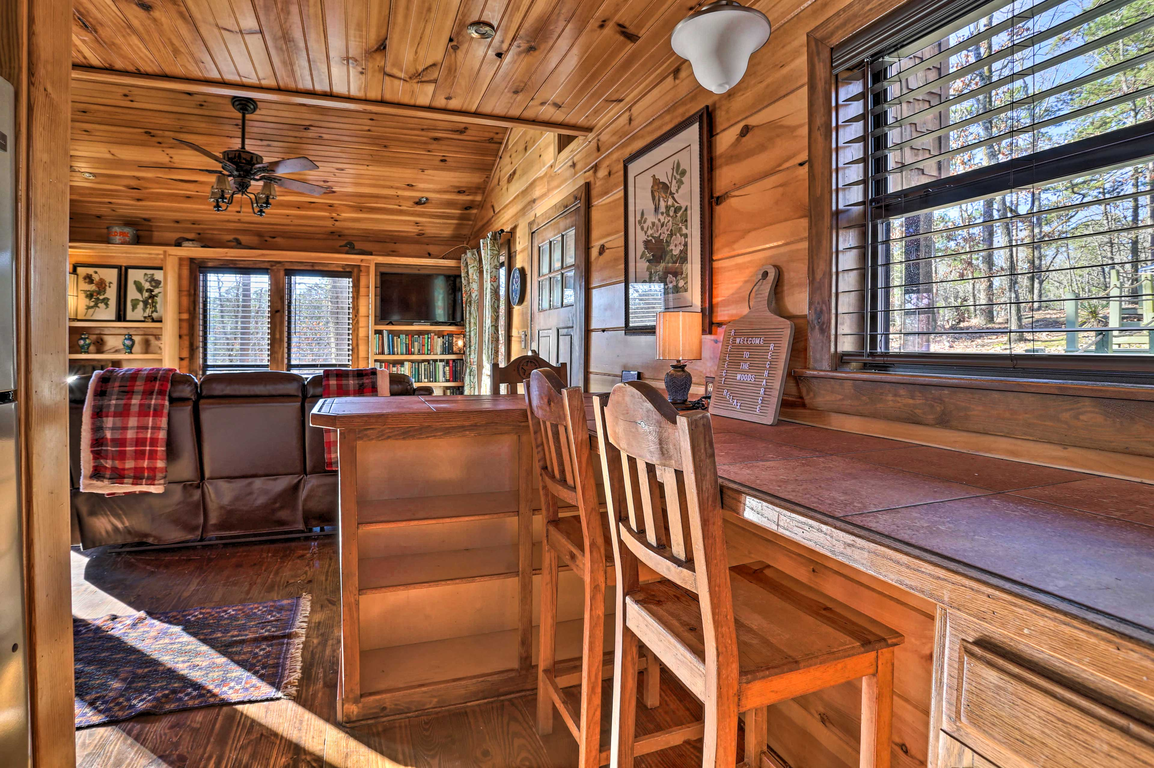 This 2-bed, 1.5-bath vacation rental offers space for 4!