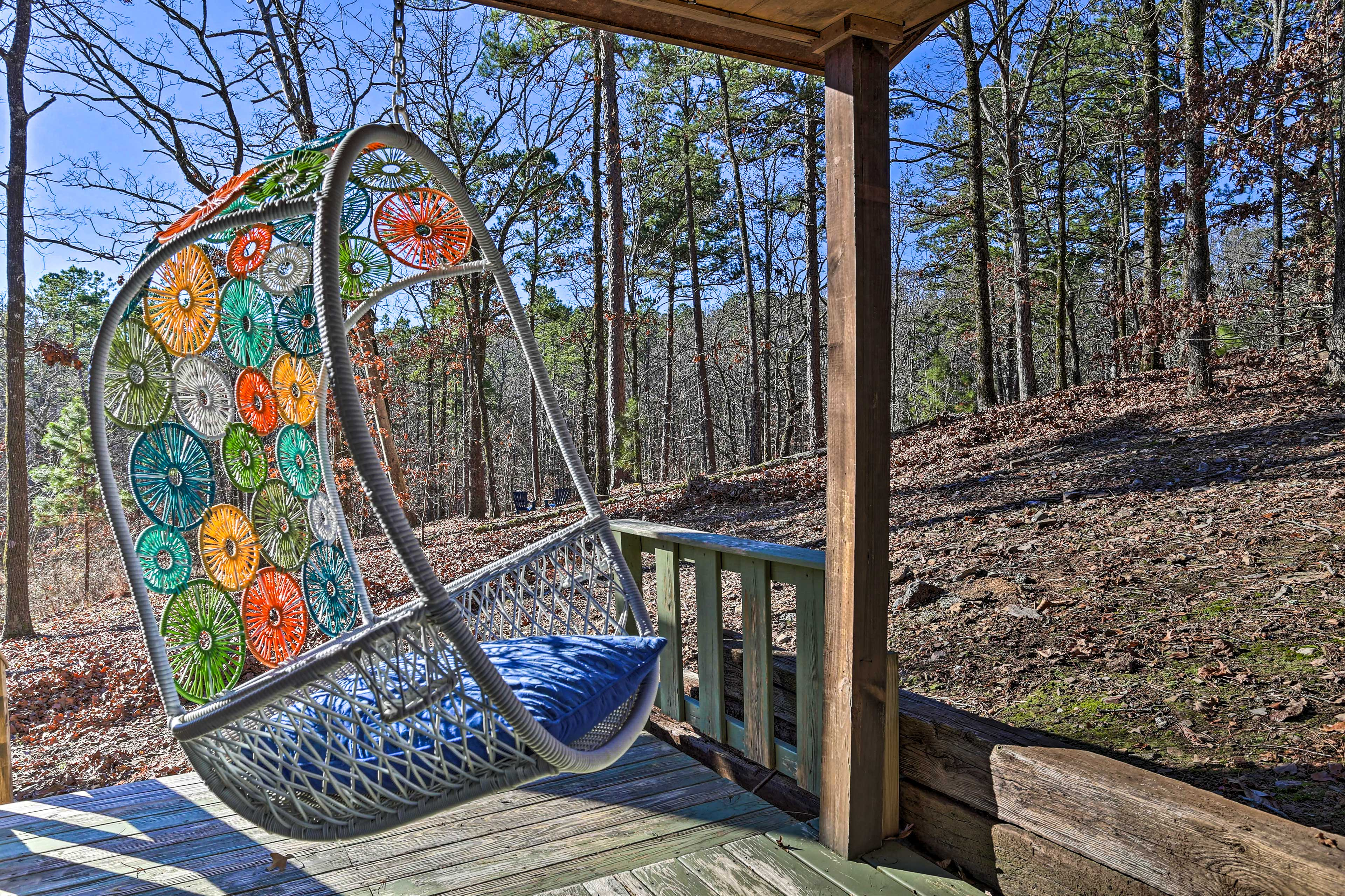 Sip your morning coffee in the swinging chair!