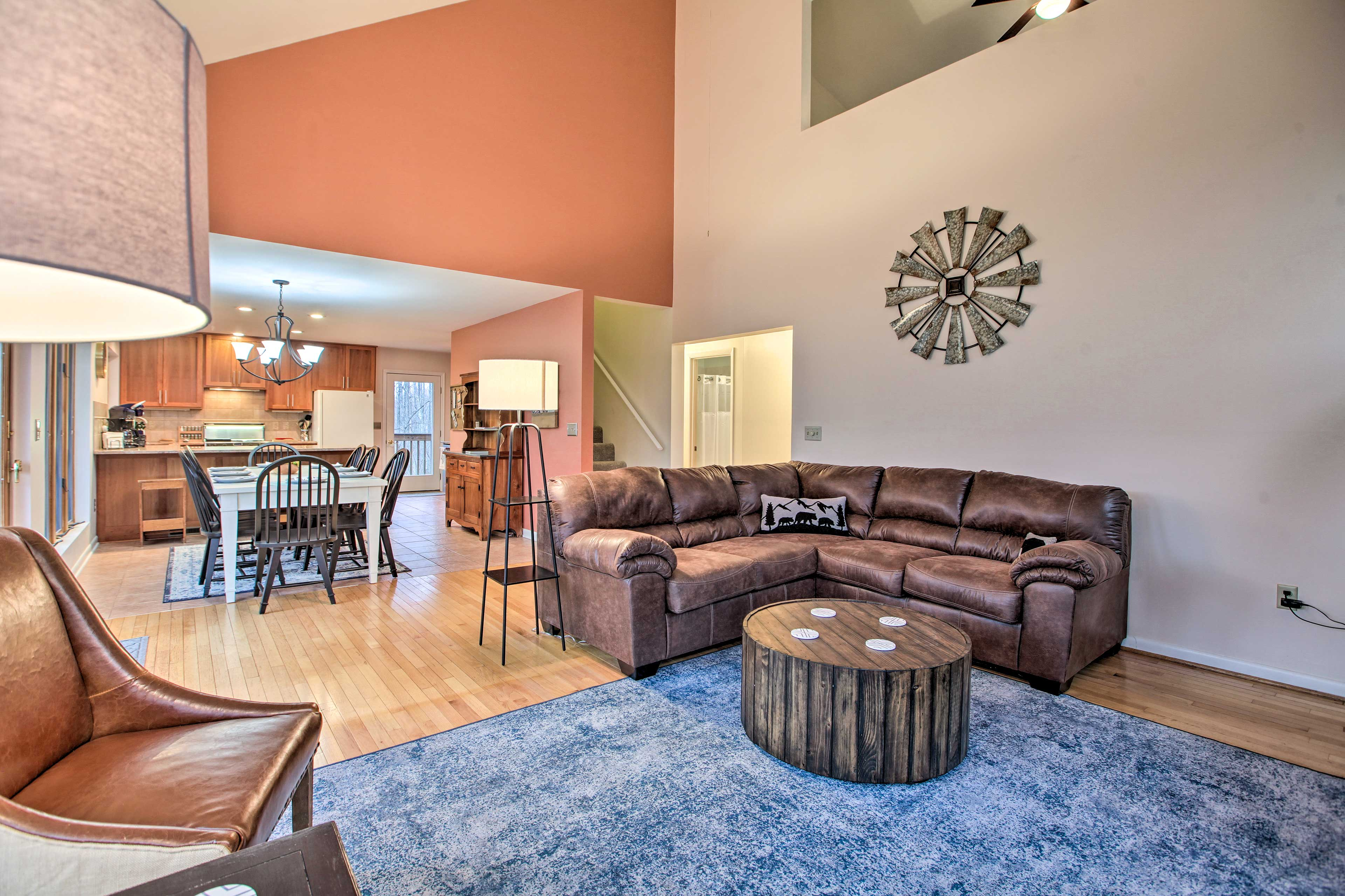 Conversation flows effortlessly through this open living area.