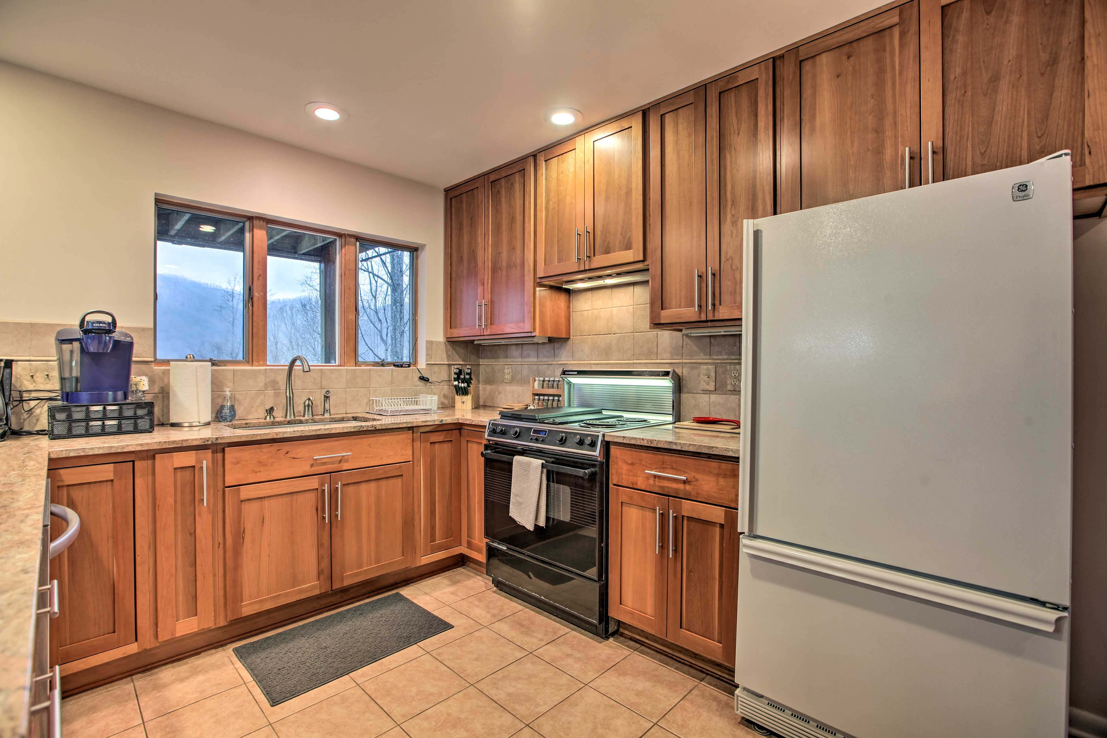 When hunger strikes, prepare a delicious meal in this kitchen.