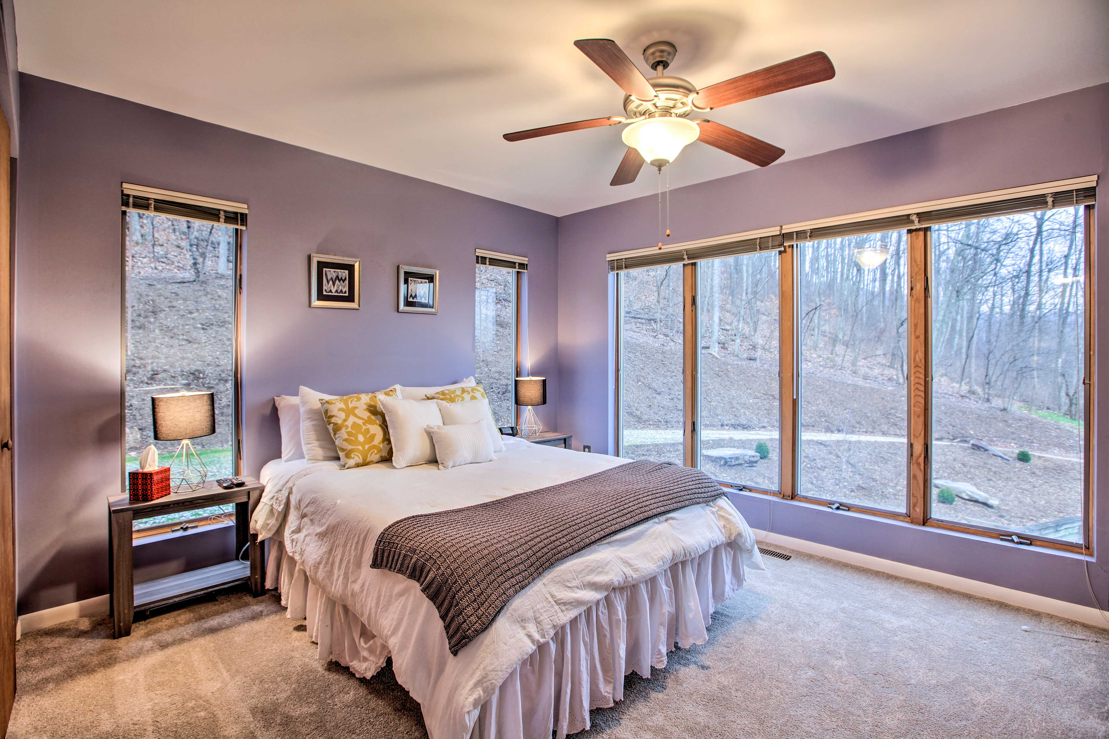 Two more guests can call this bedroom home.