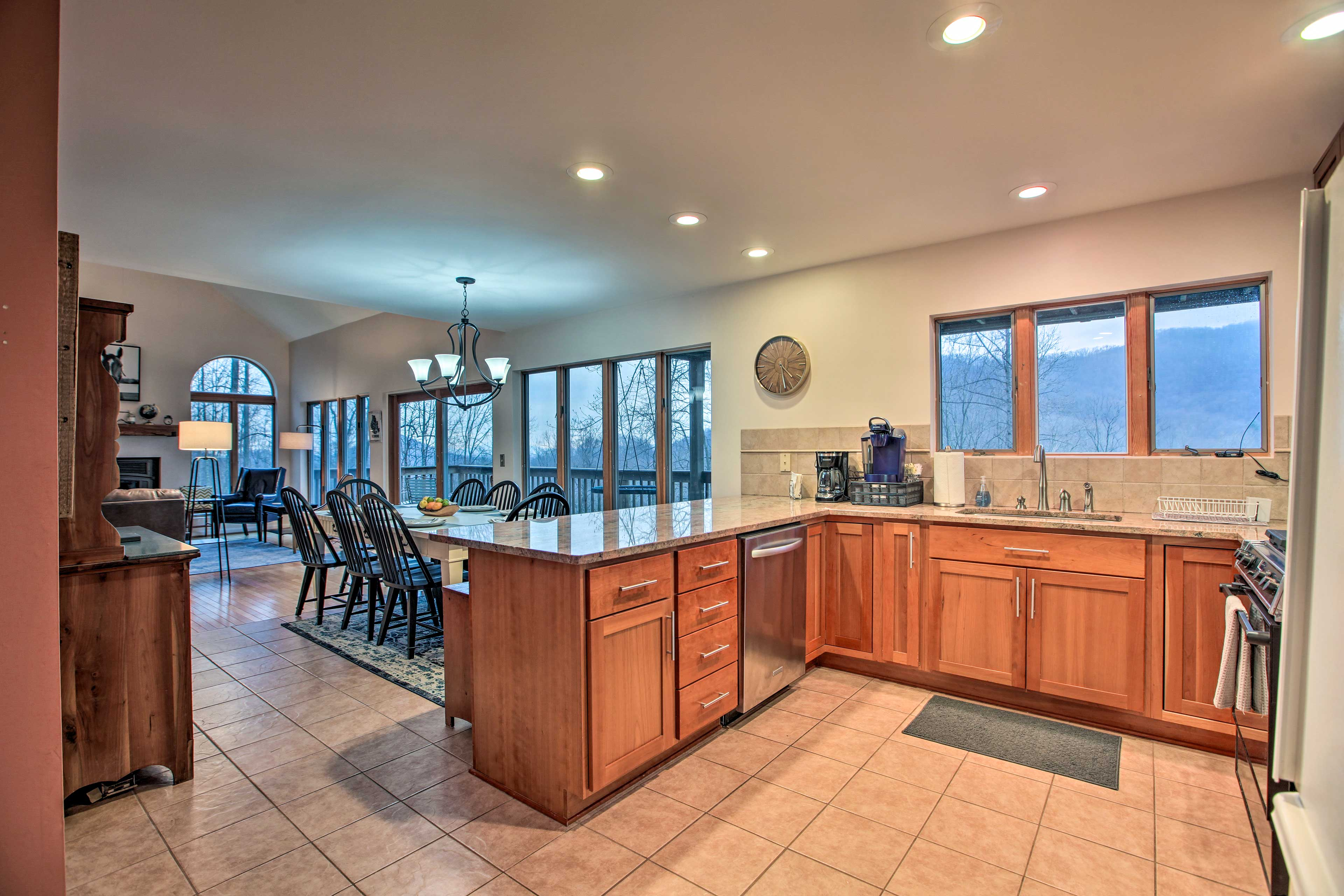 Take in Blue Ridge Mountain views while preparing dinner!