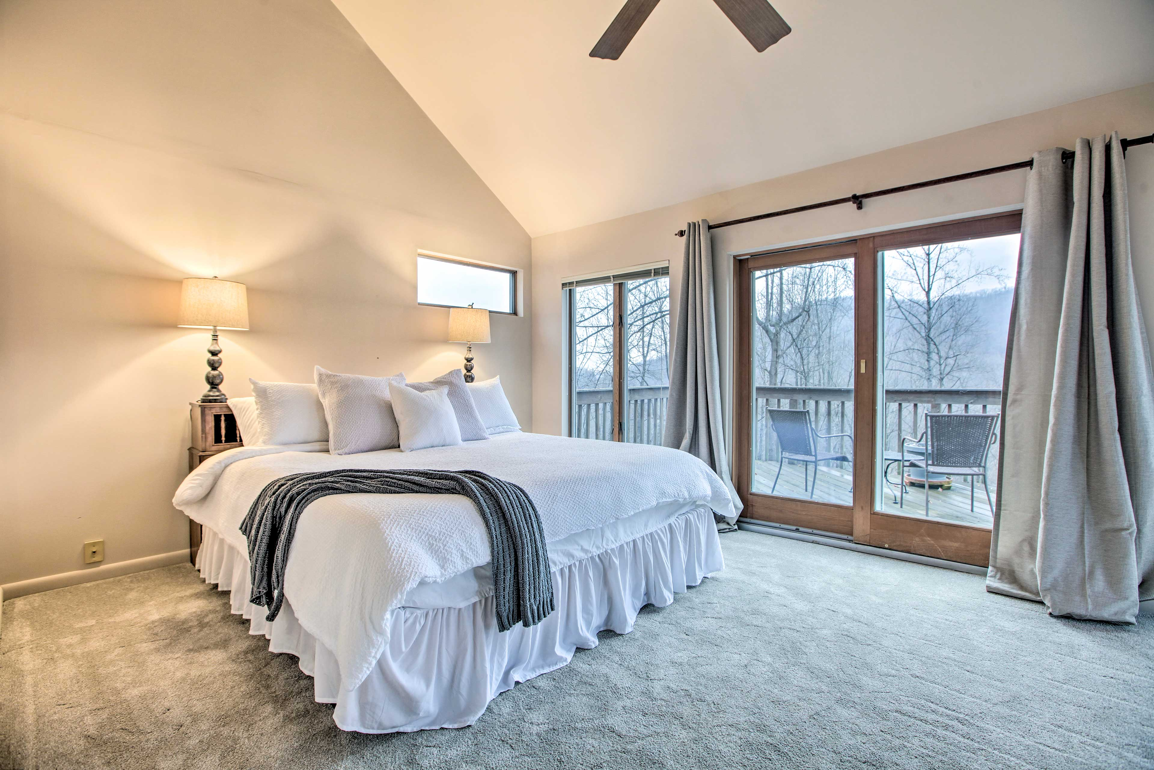 Claim the master bedroom and enjoy your own balcony.
