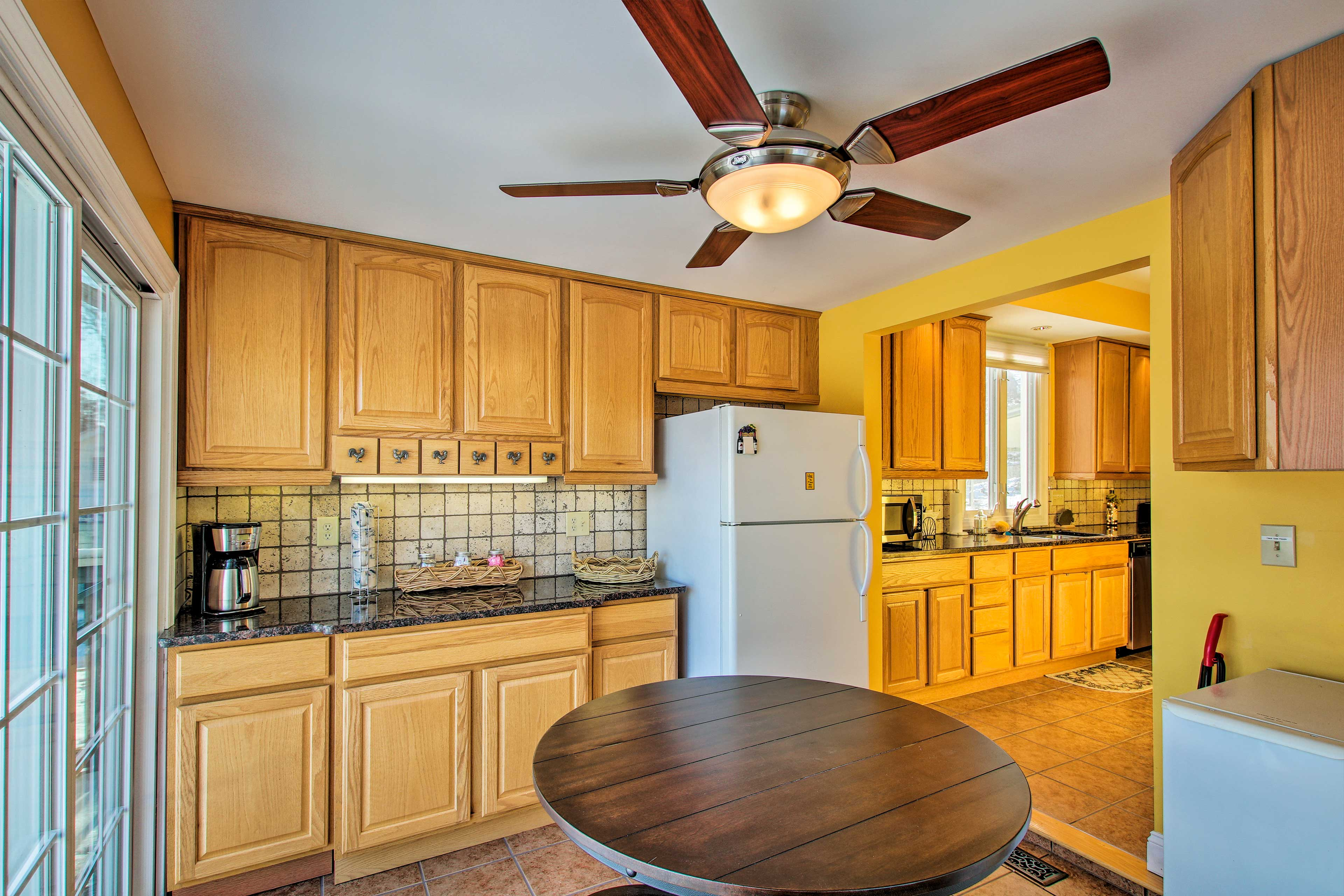 The kitchen is fully equipped for your convenience!