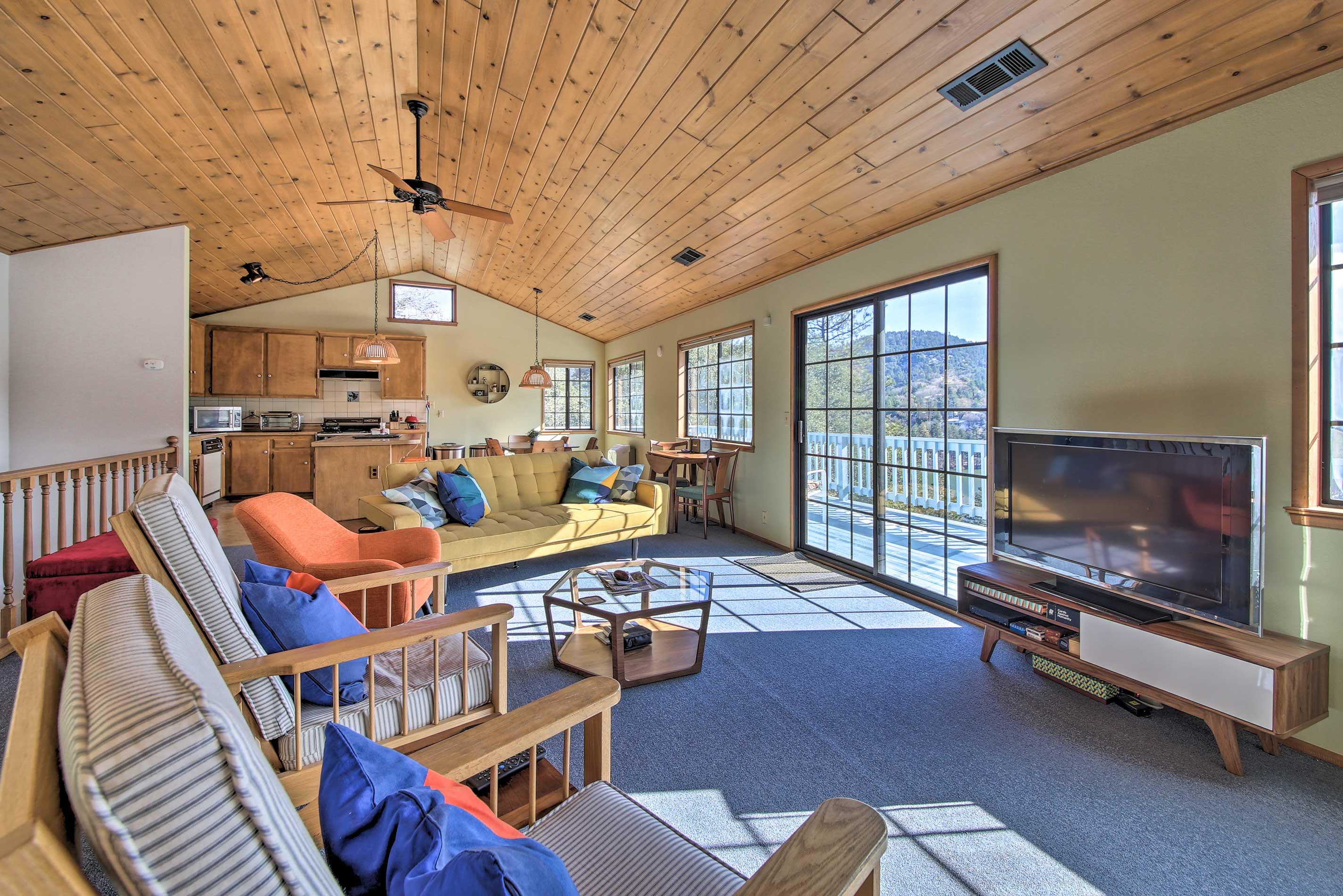 Make yourself comfortable in the open floor plan.
