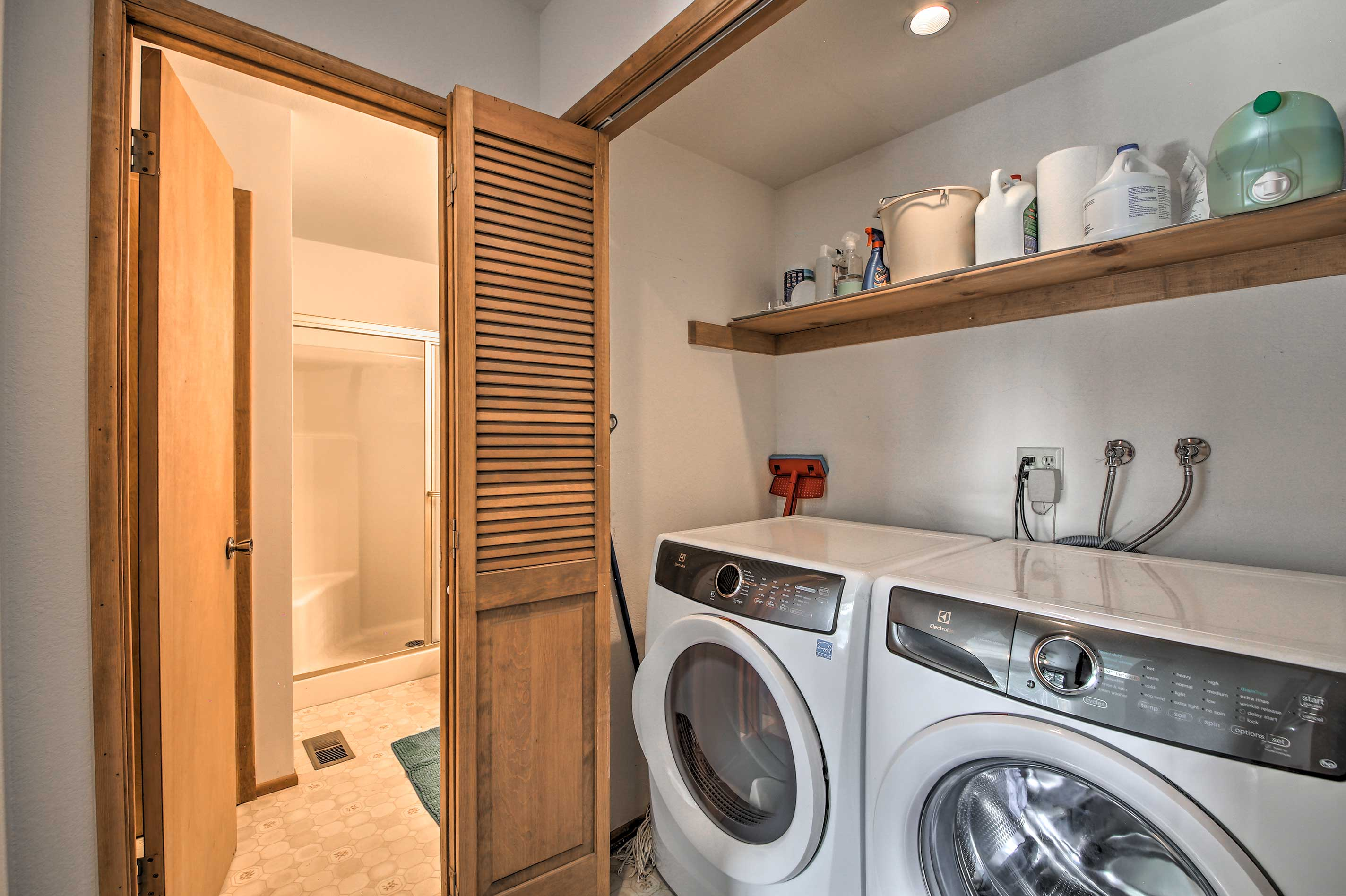Let the washer and dryer take care of your clothes.
