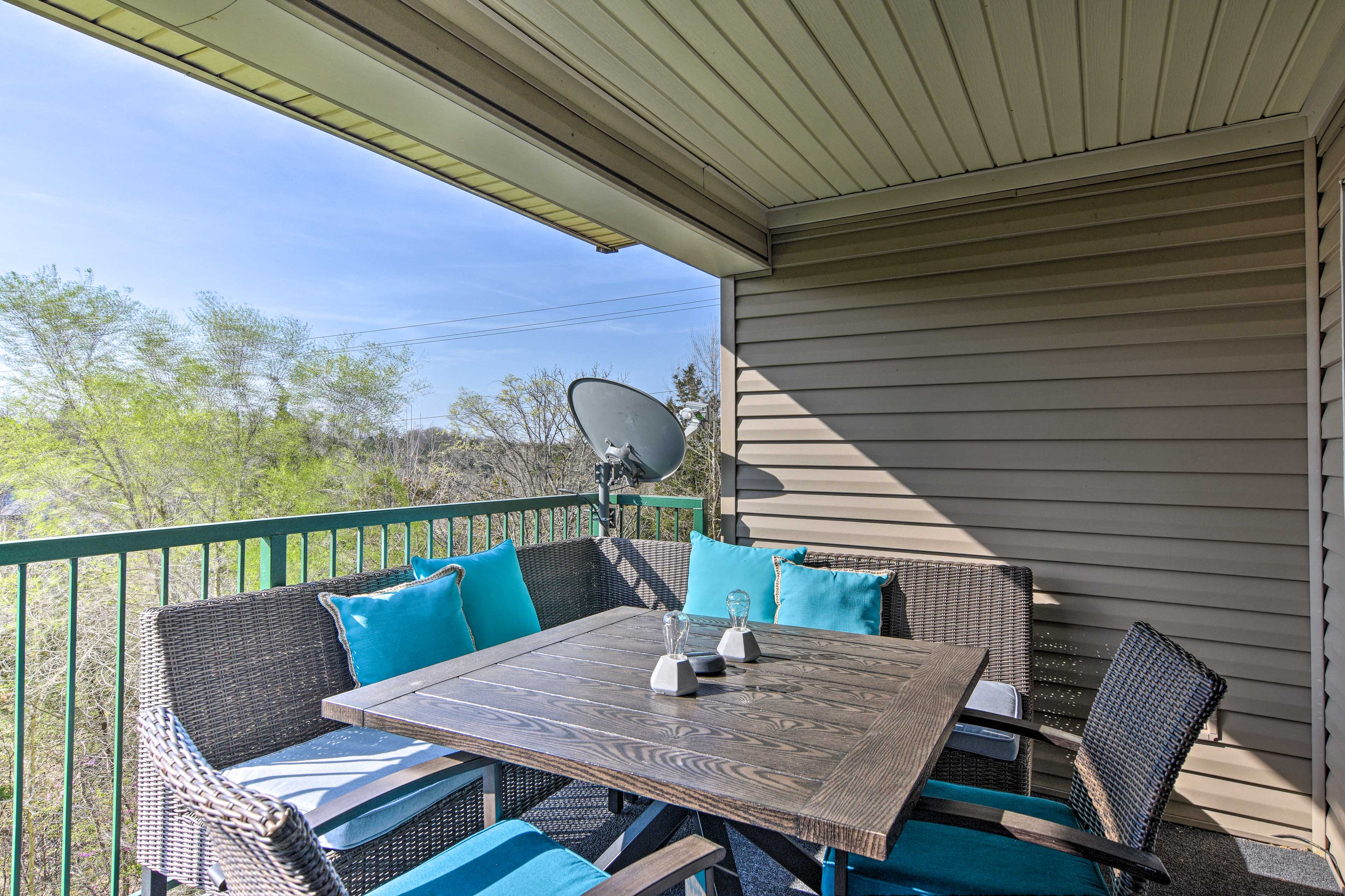 You'll love spending your downtime on the peaceful patio.
