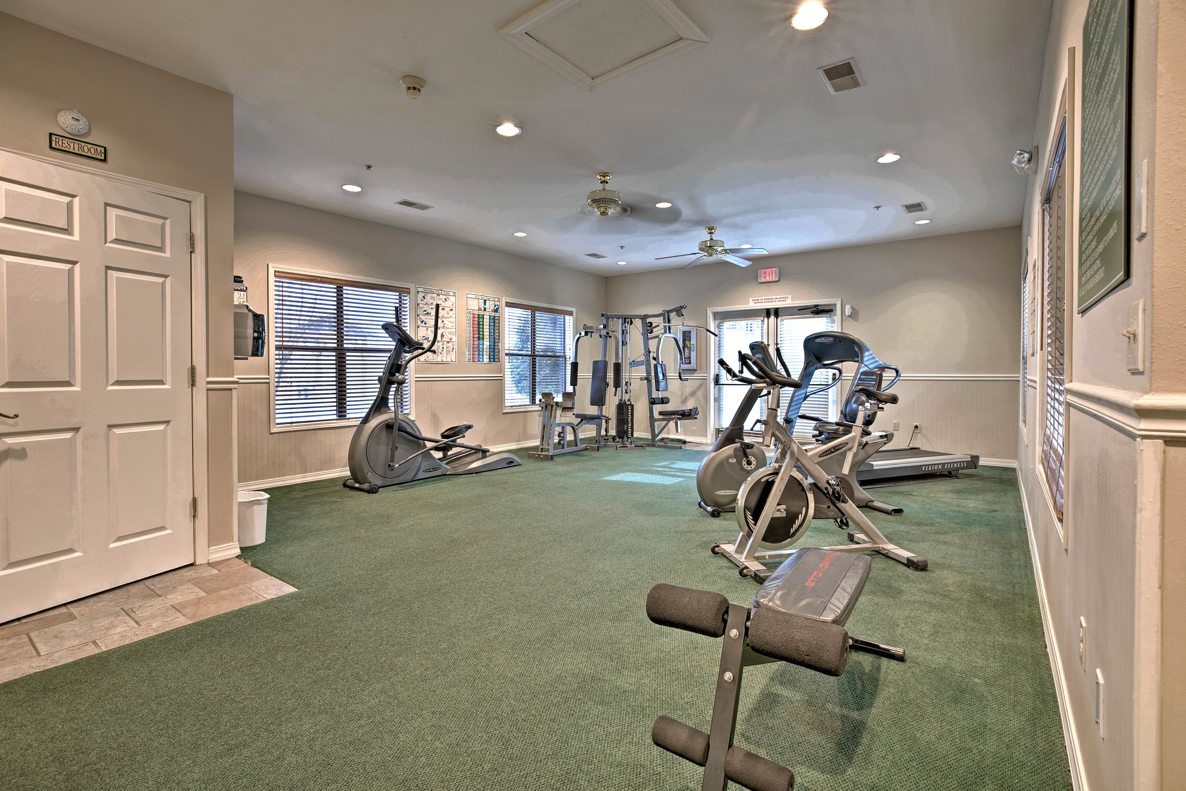 Stay on track with a fitness center!
