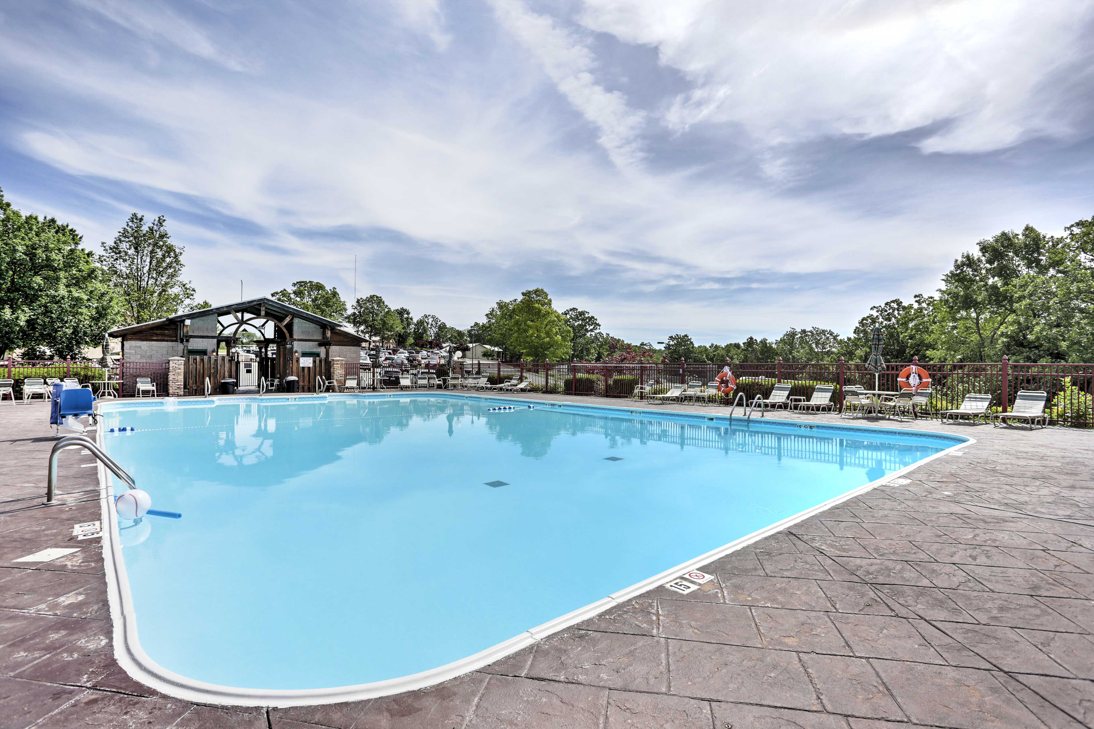 Make a splash in the large outdoor pool.