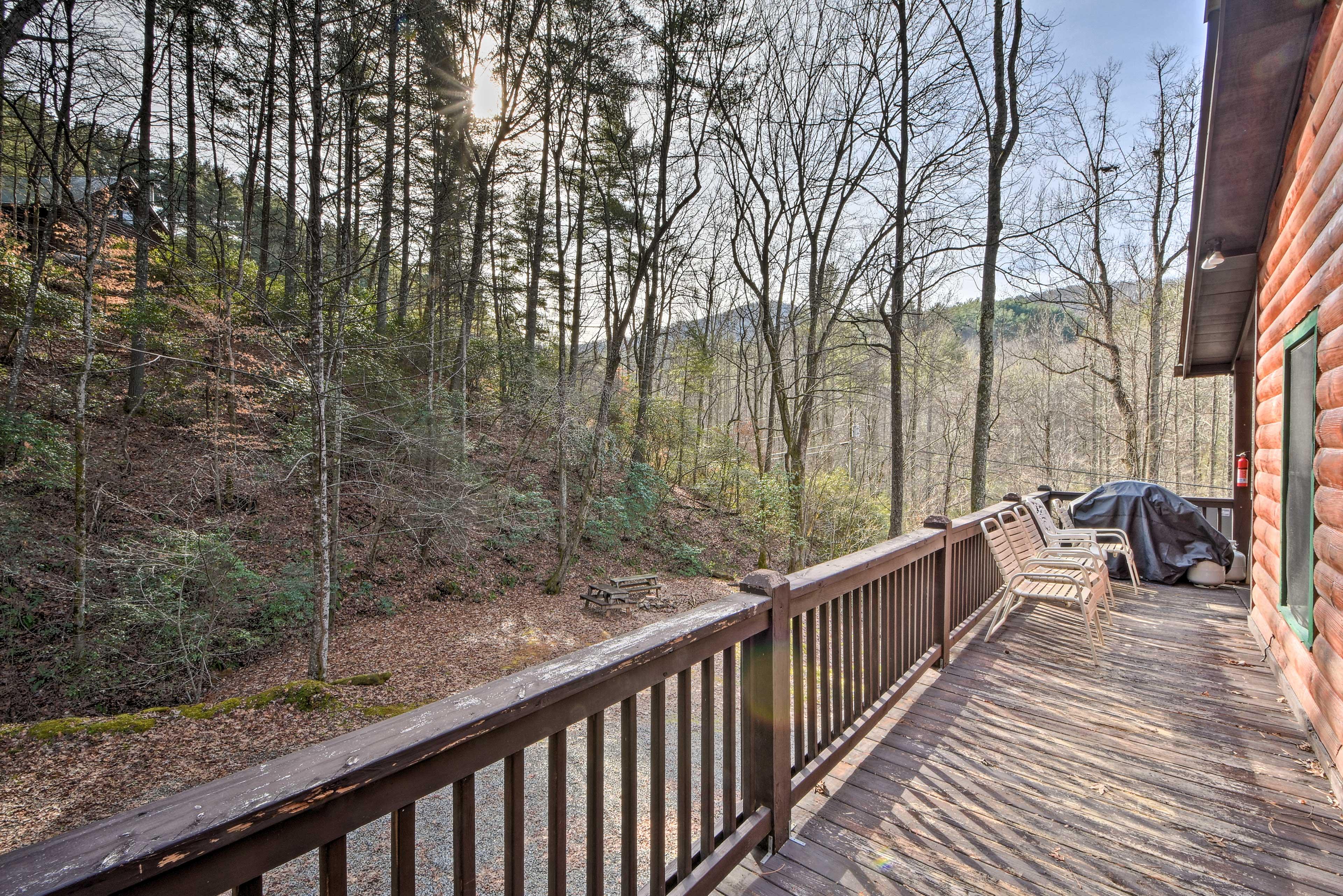 Wraparound Deck   Natural Views   Gas Grill