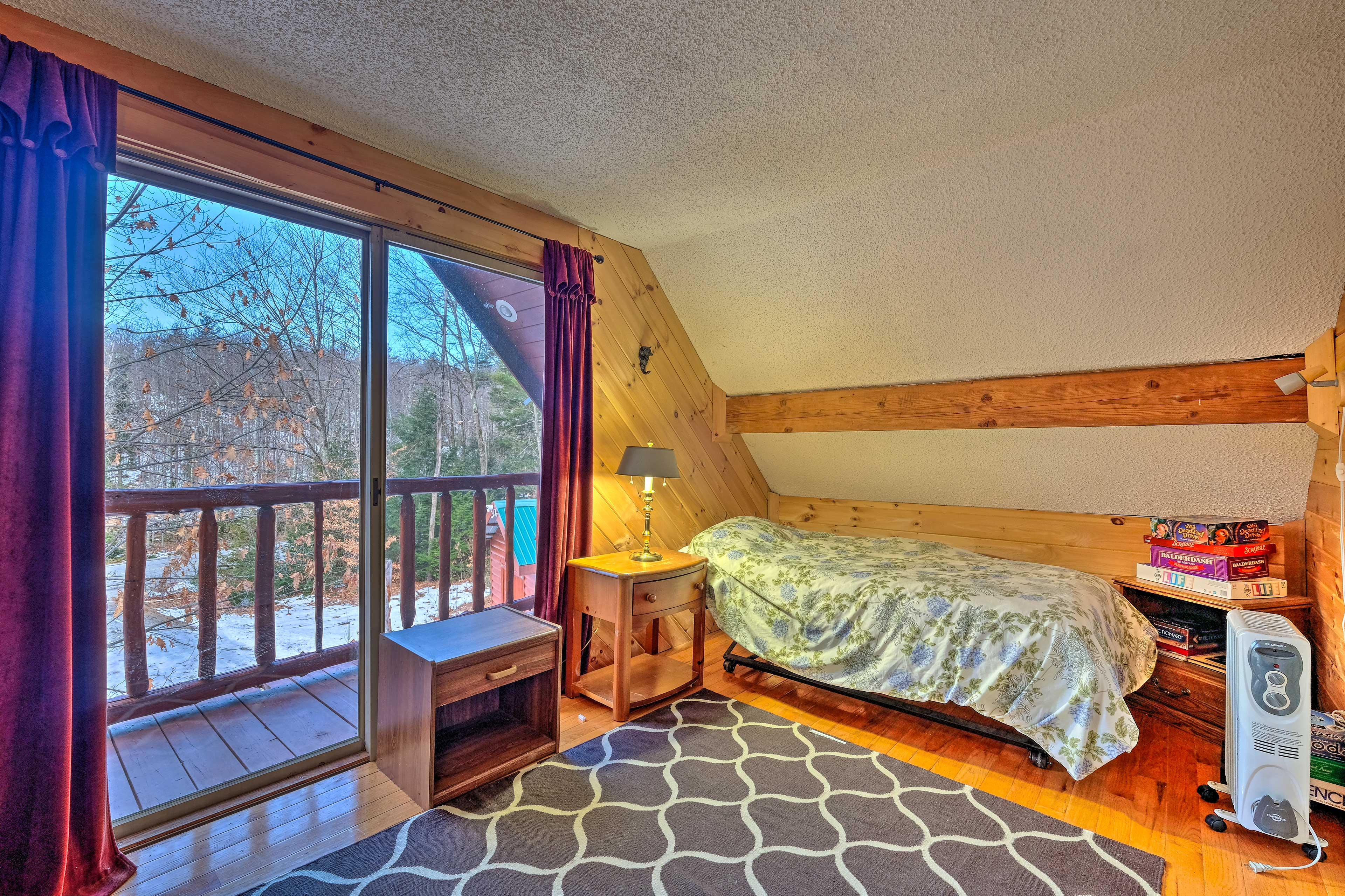Have the kids sleep in bedroom 2 with the 2 twin beds.