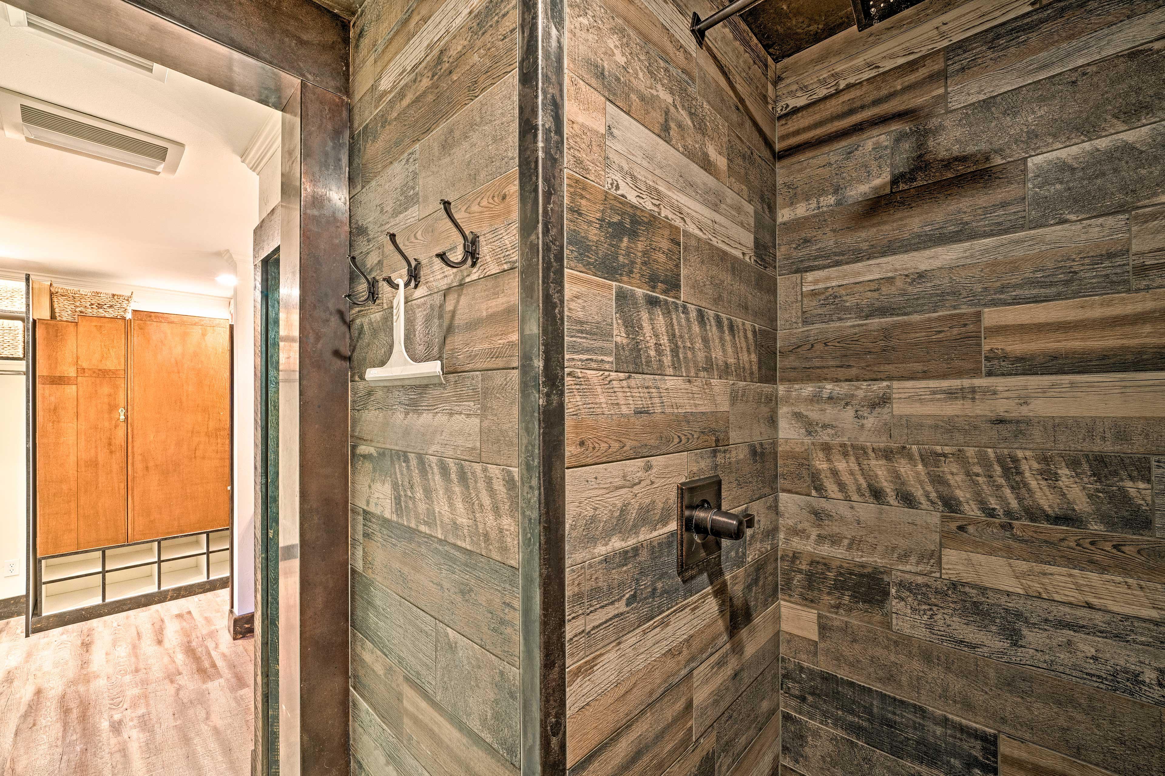 Walk right into this unique shower.