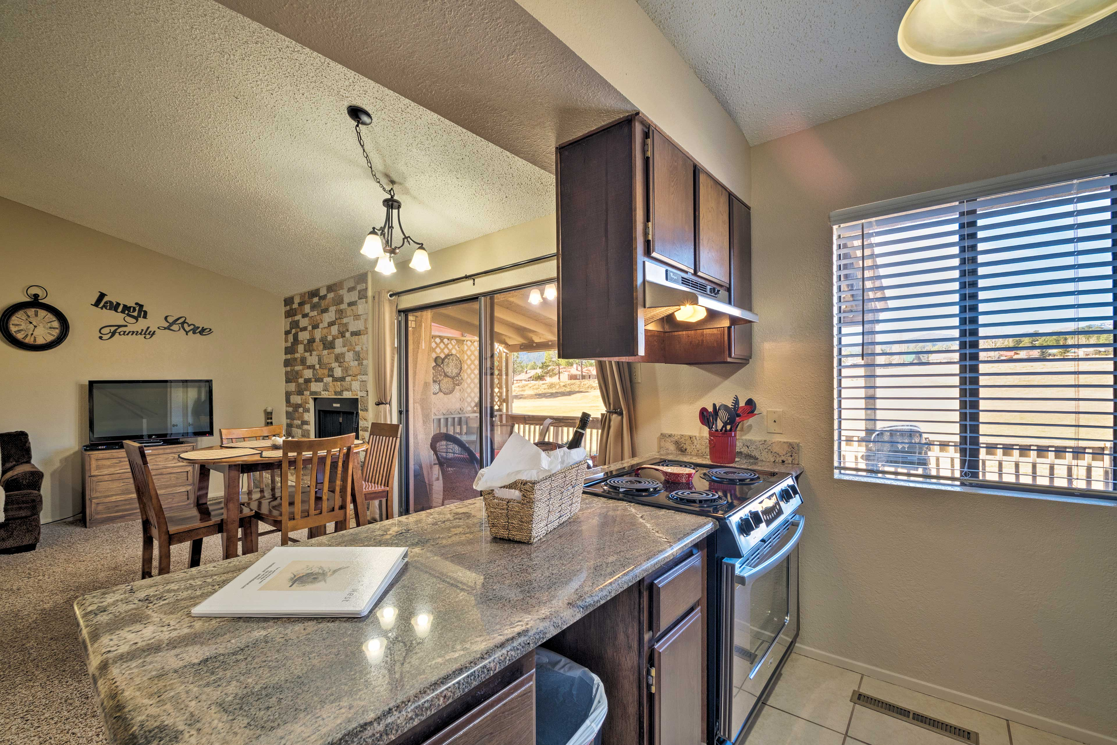 You'll love whipping up your favorite recipes in this open kitchen.