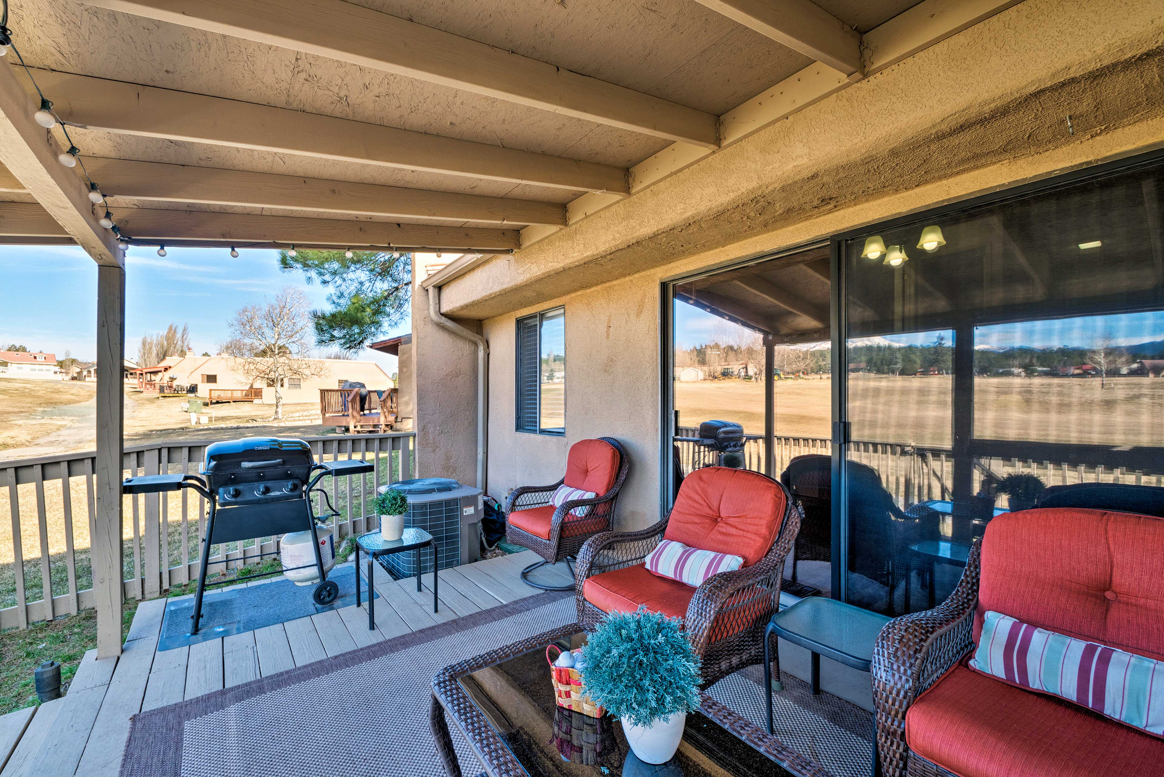 Fall in love with Ruidoso from the comfort of your deck with mountain views.