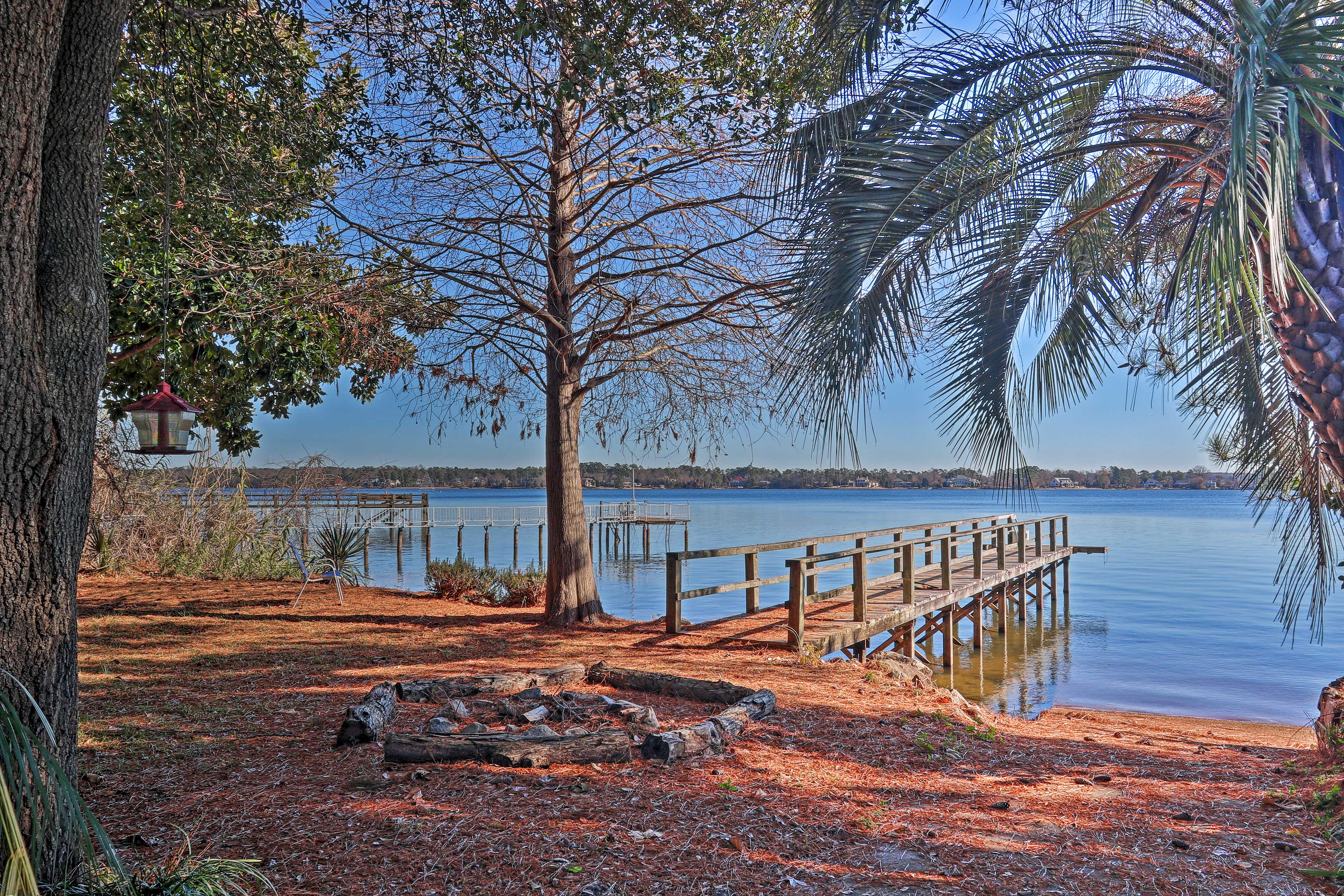 Breathe in the fresh air while soaking in the views from the home's dock.