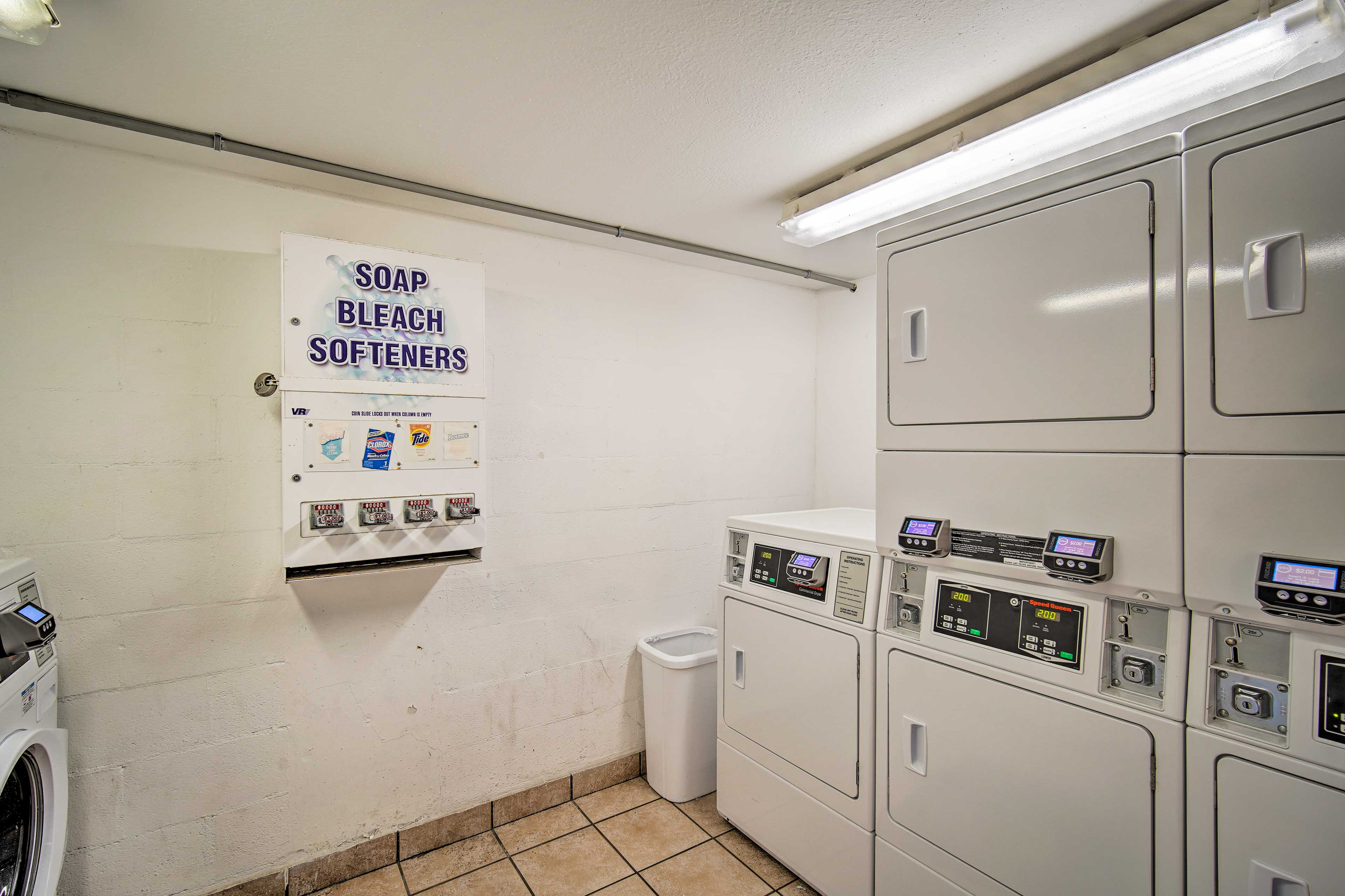 Take advantage of the on-site washers & dryers.