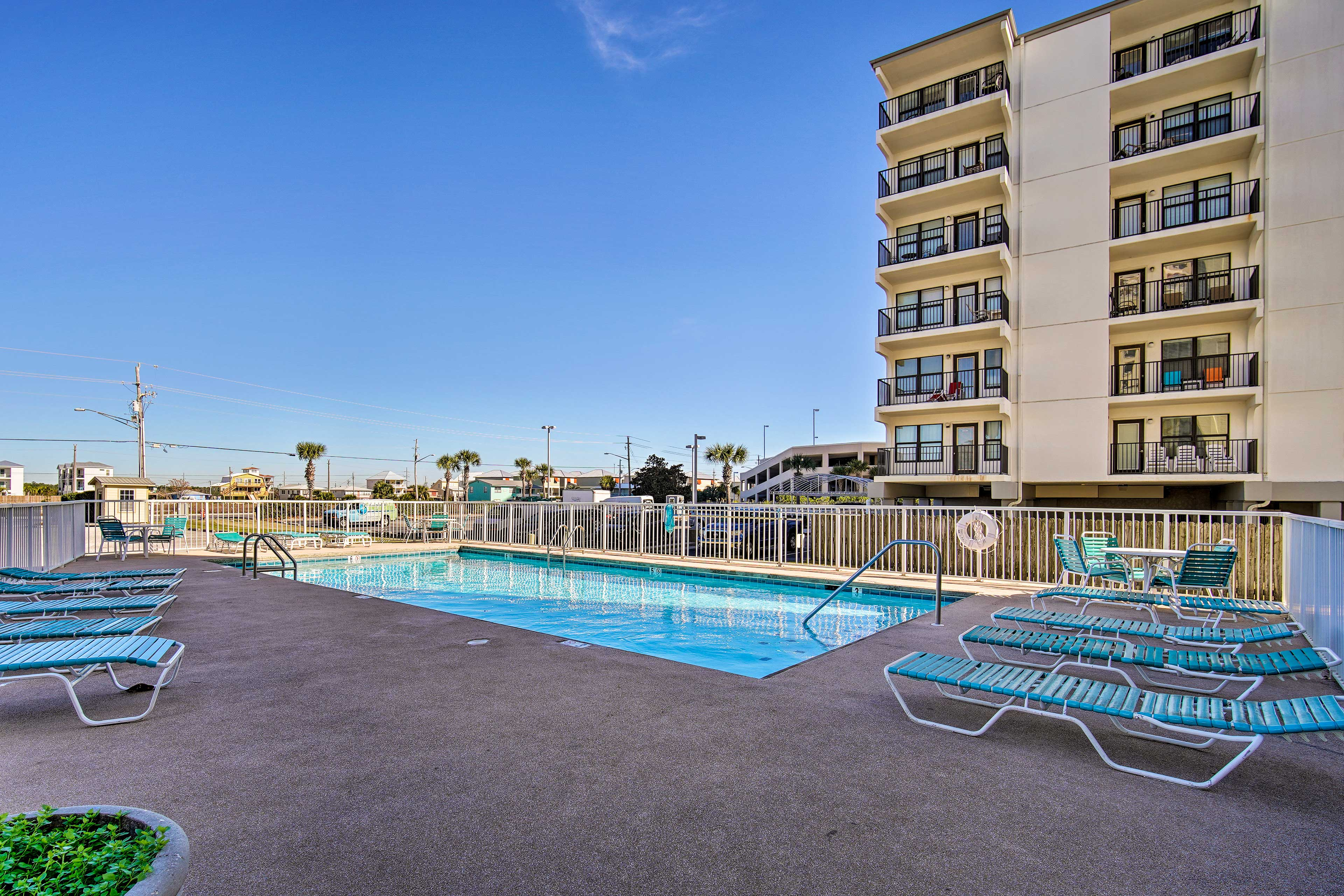 Head down to the pool for some sunshine & relaxation.