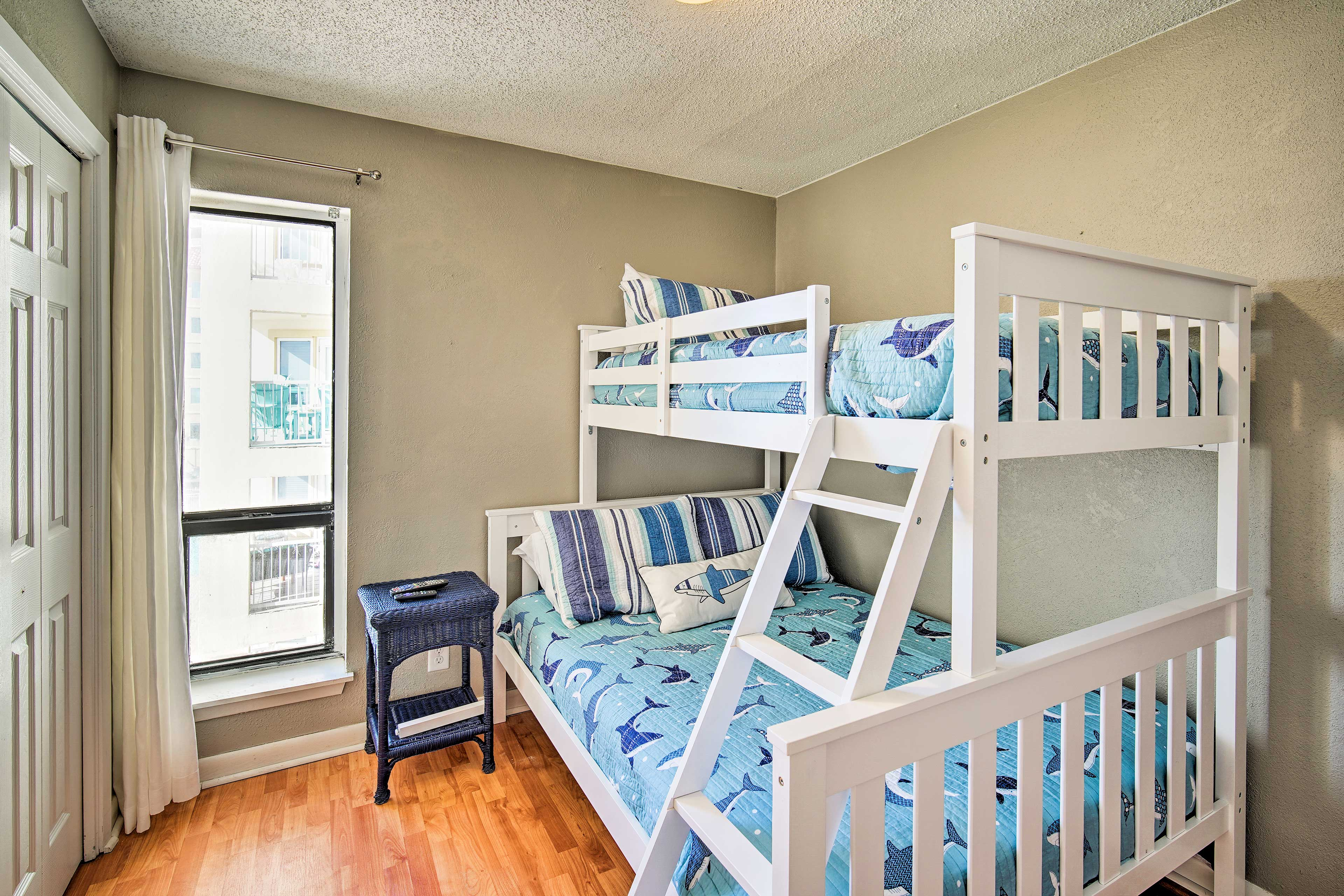 Put the kids to bed in the third bedroom.