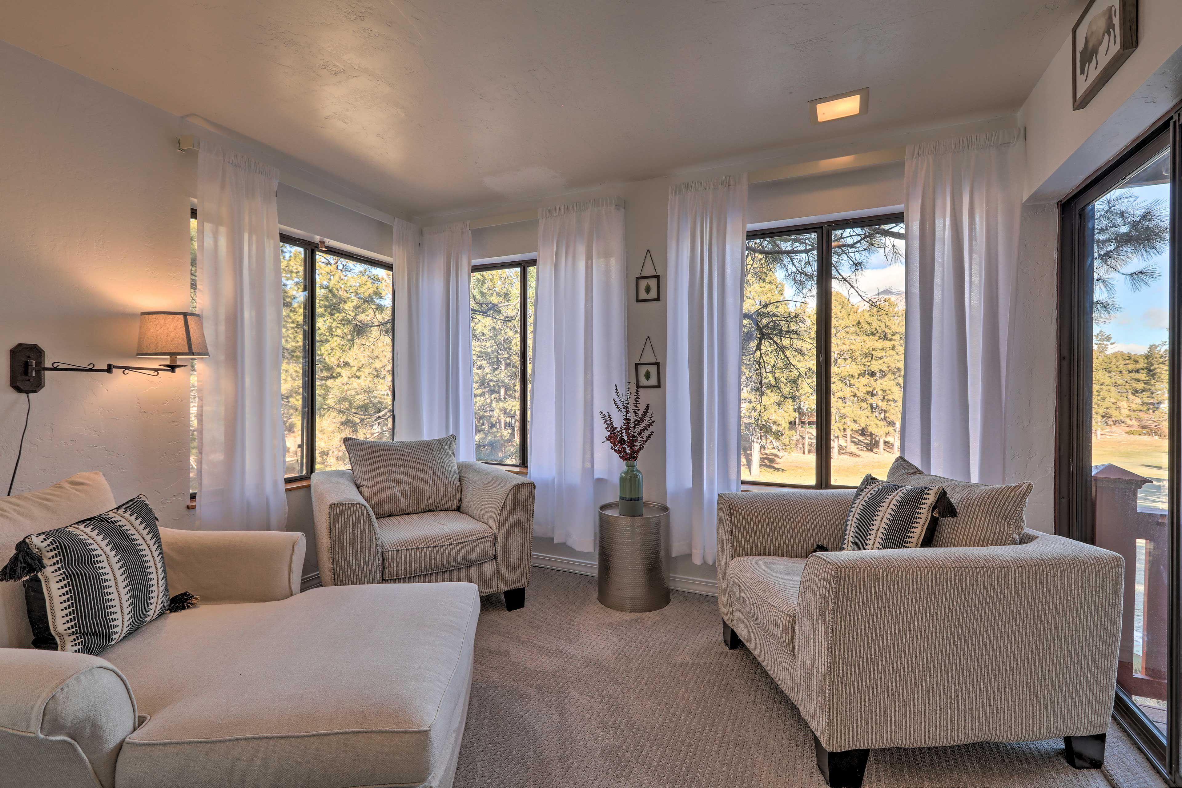 There's no better place for serenity than the sunroom!
