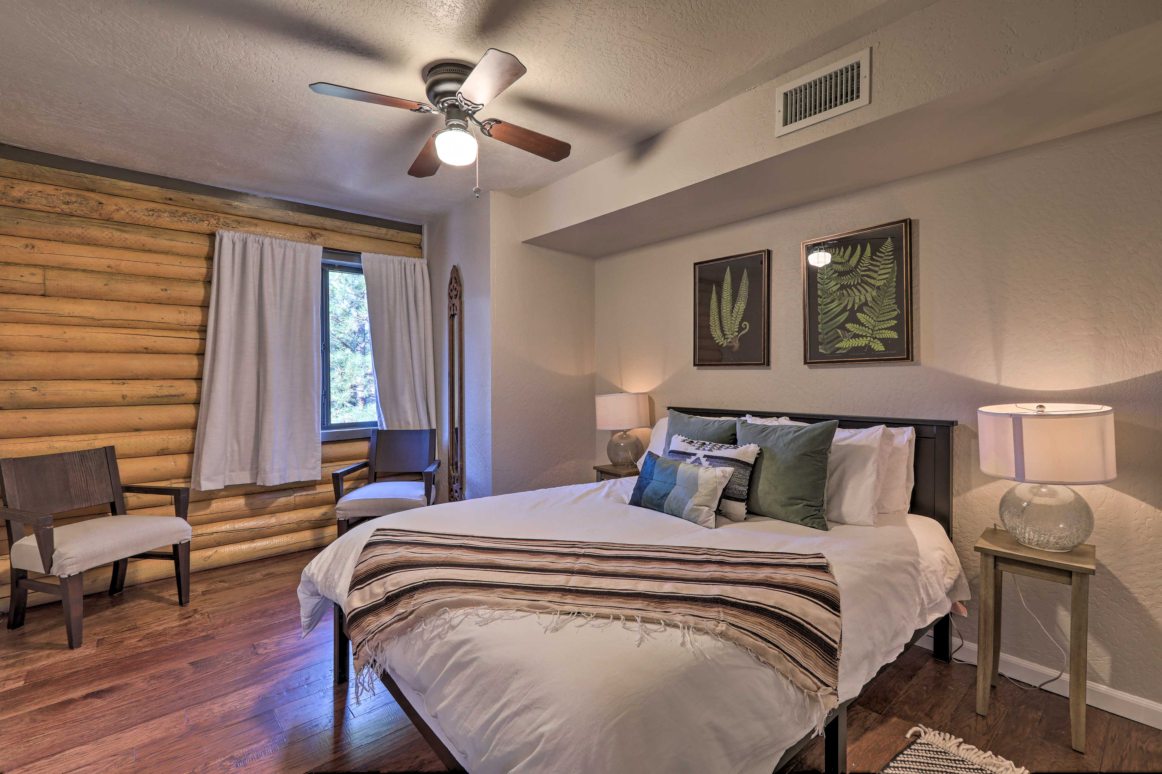 You'll love the rustic decor in each bedroom.