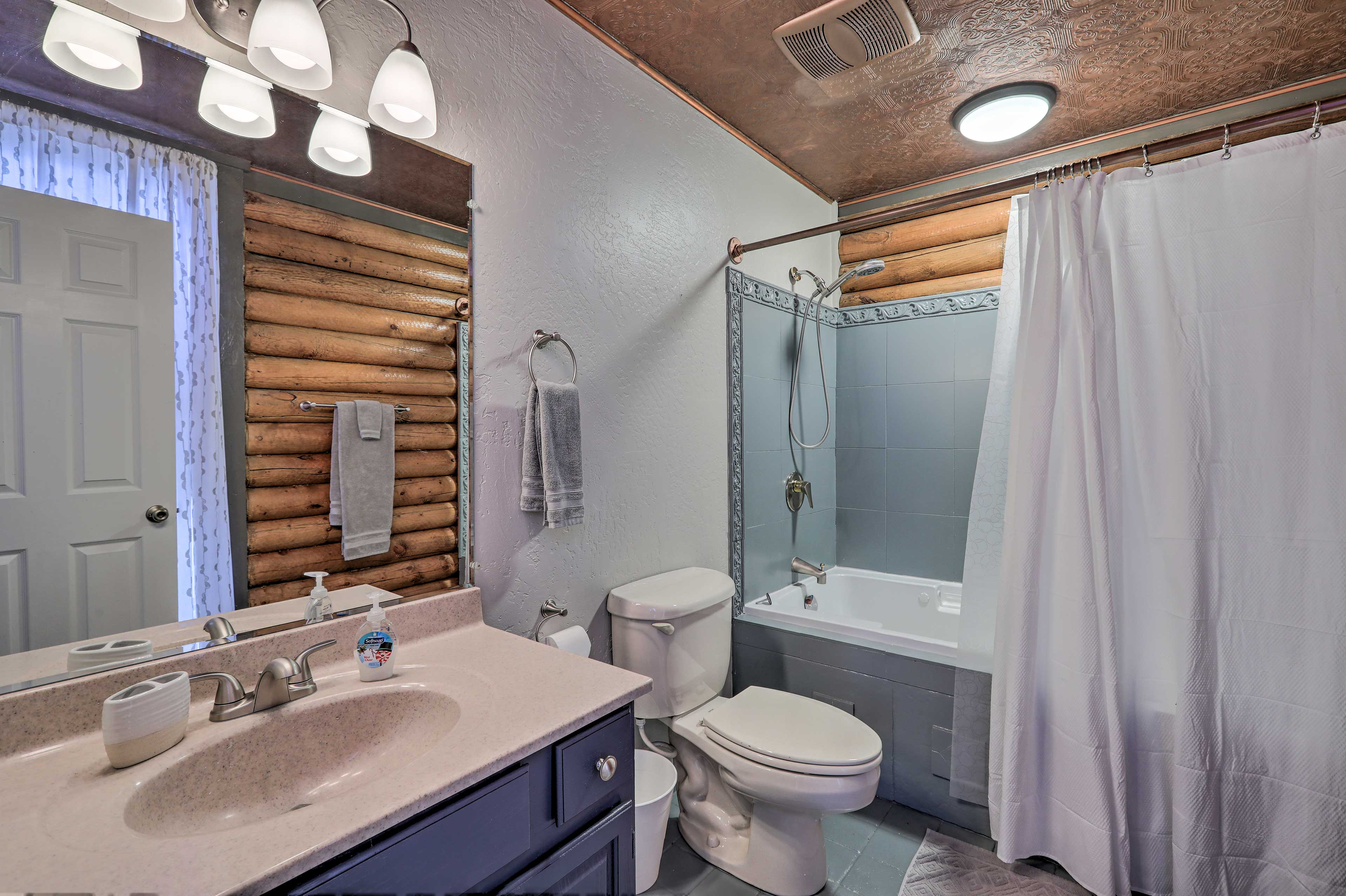 A second full bathroom provides additional privacy for your crew of 12!
