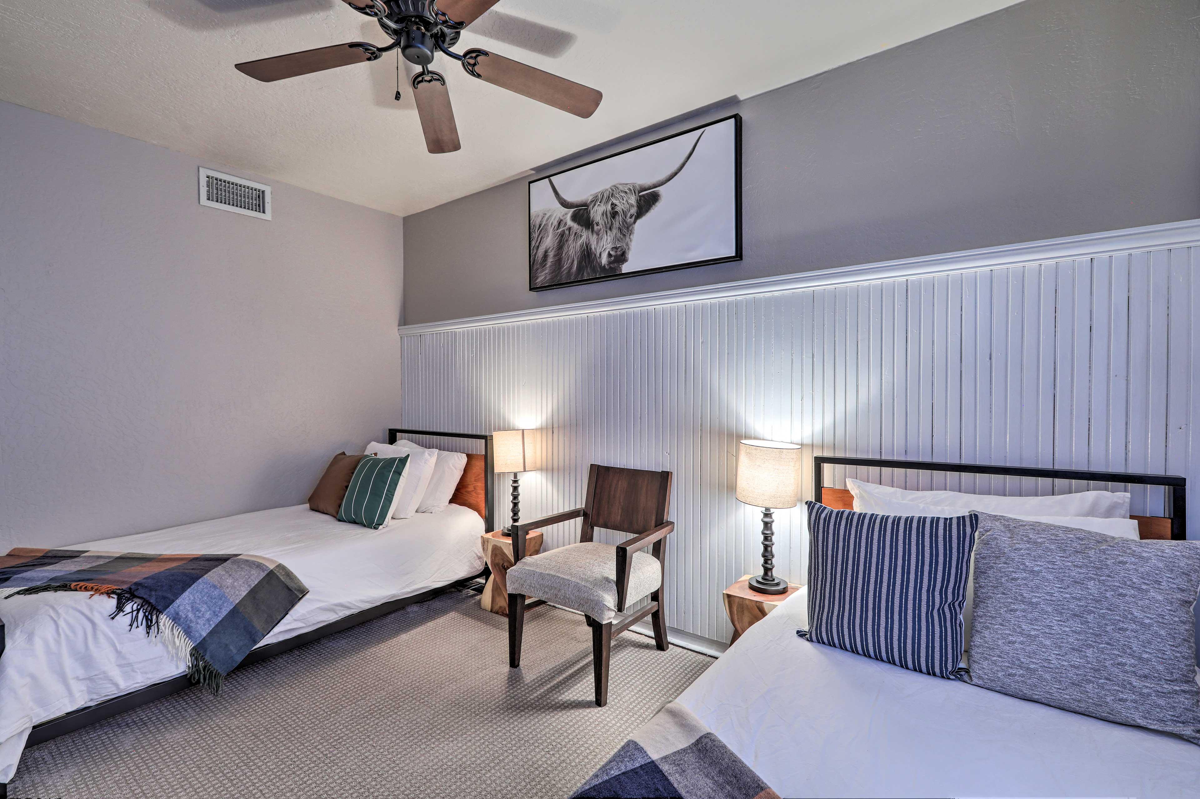 Make yourself comfortable on the fresh sheets.