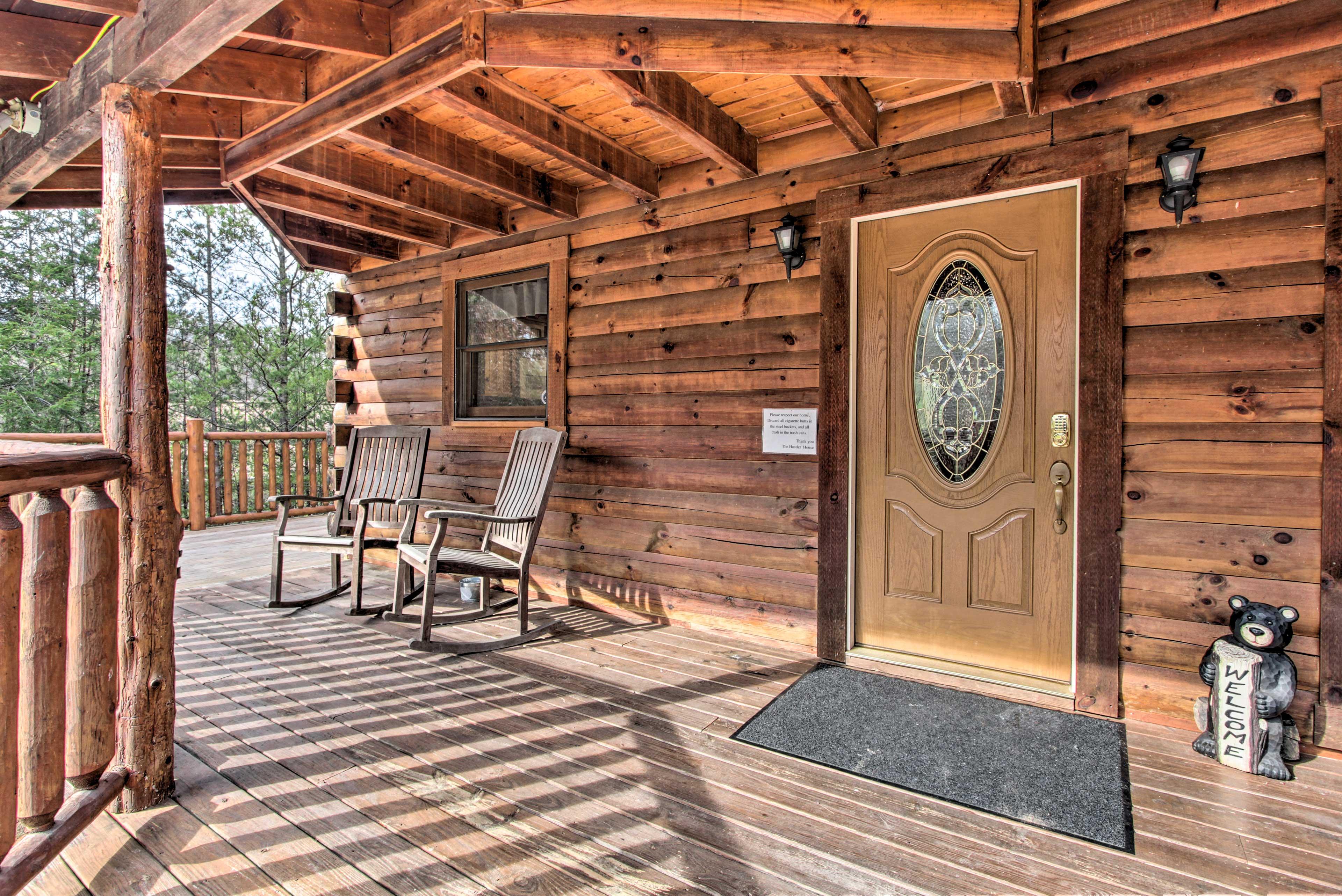 Step outside to enjoy some sunshine on the spacious wraparound deck.