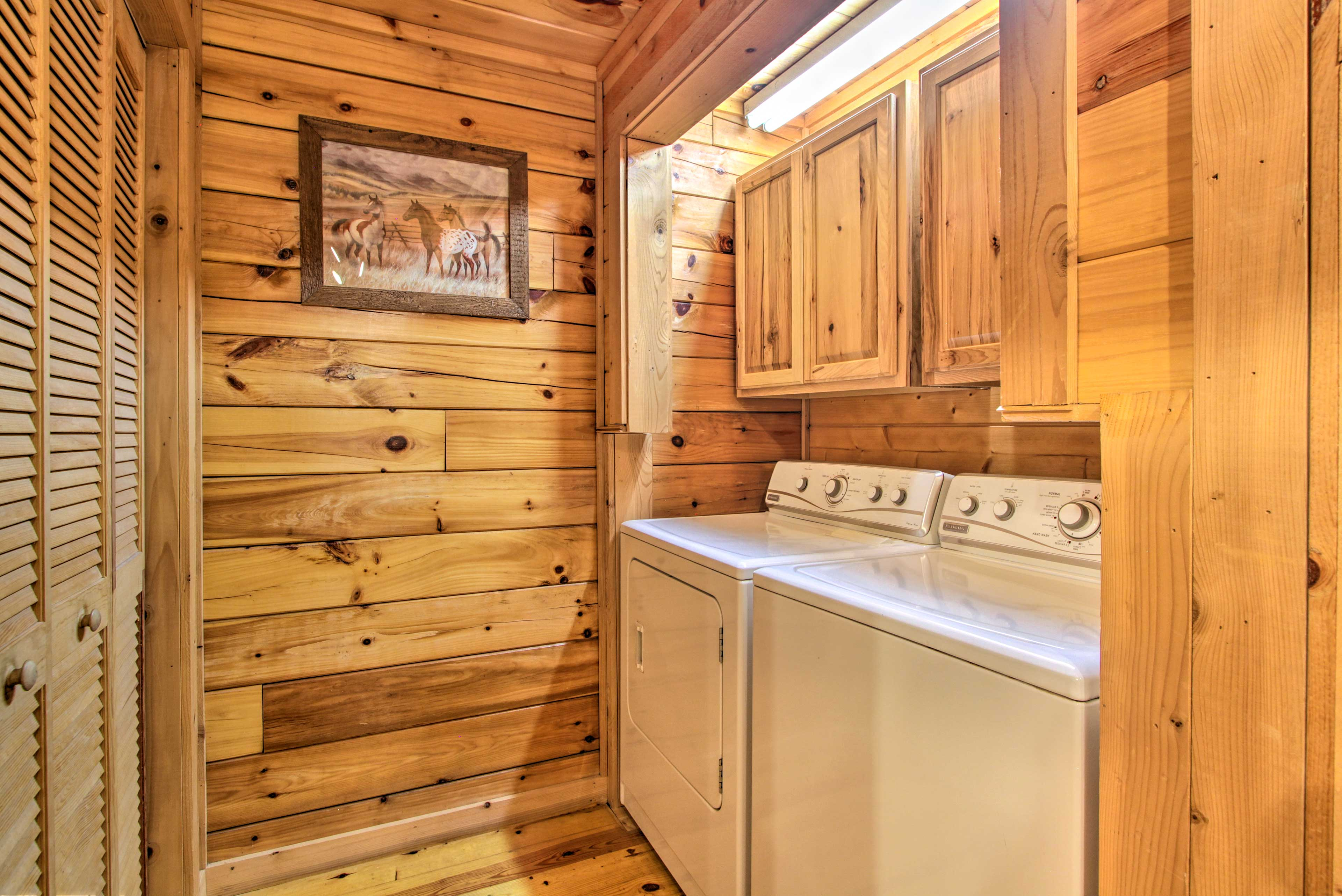 In-unit laundry machines are available throughout your stay!