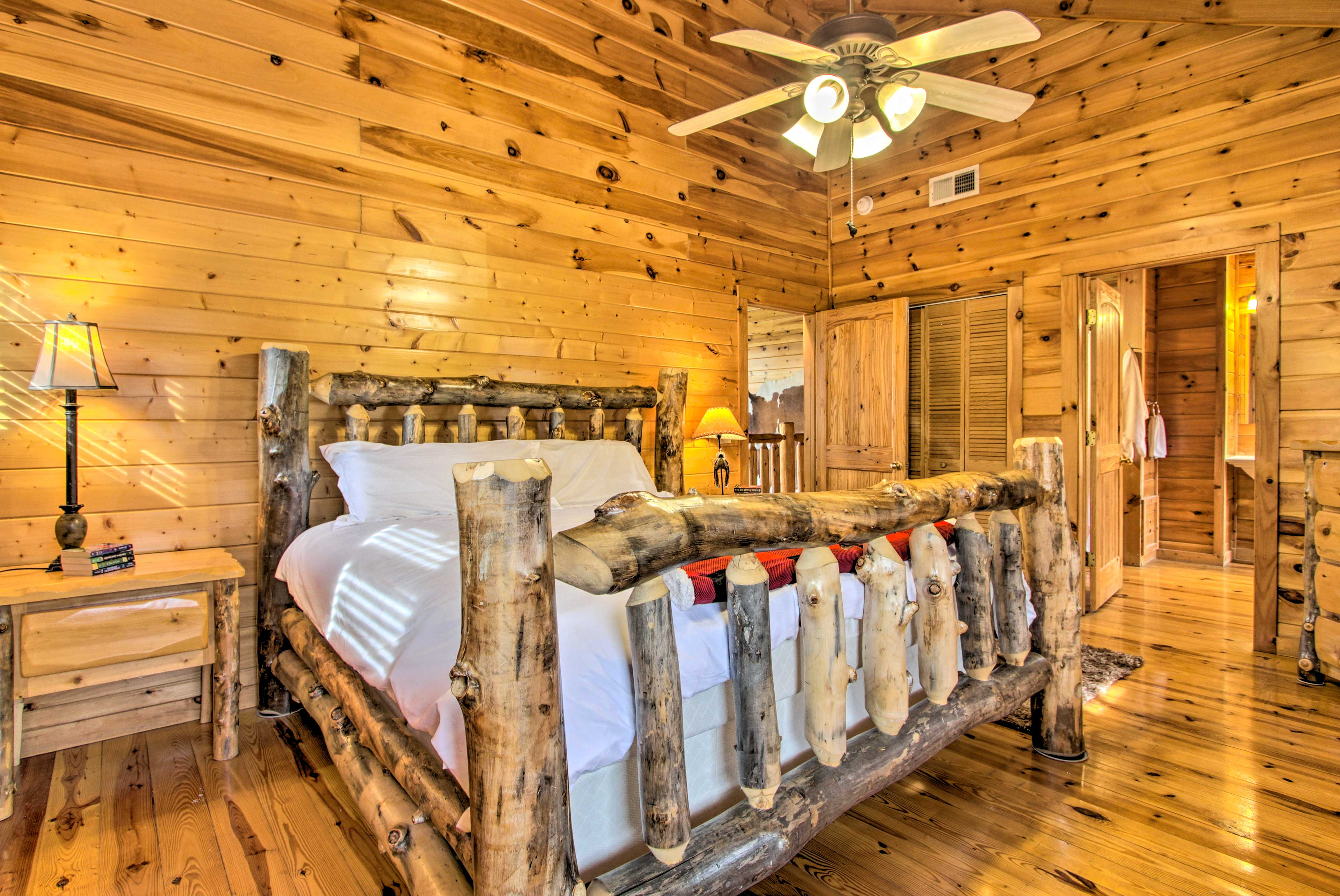 The second master bedroom is located upstairs and also offers a king-sized bed.
