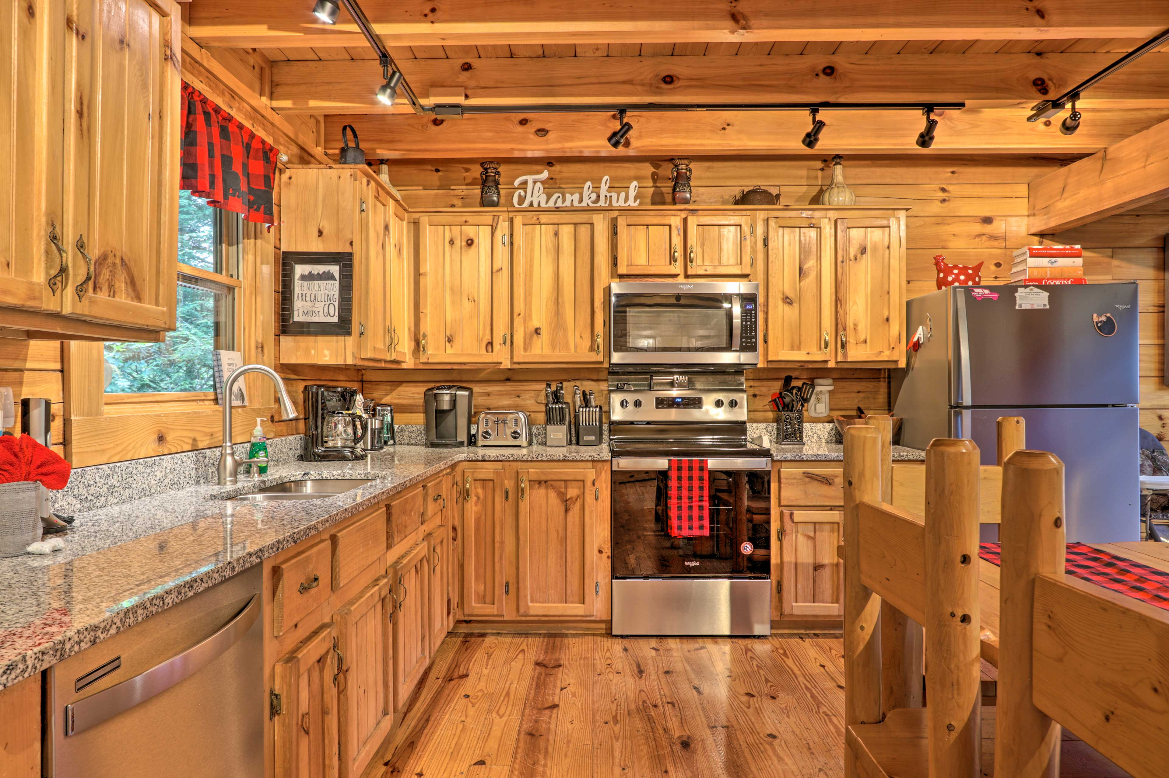 Try out a new recipe in the fully equipped kitchen.
