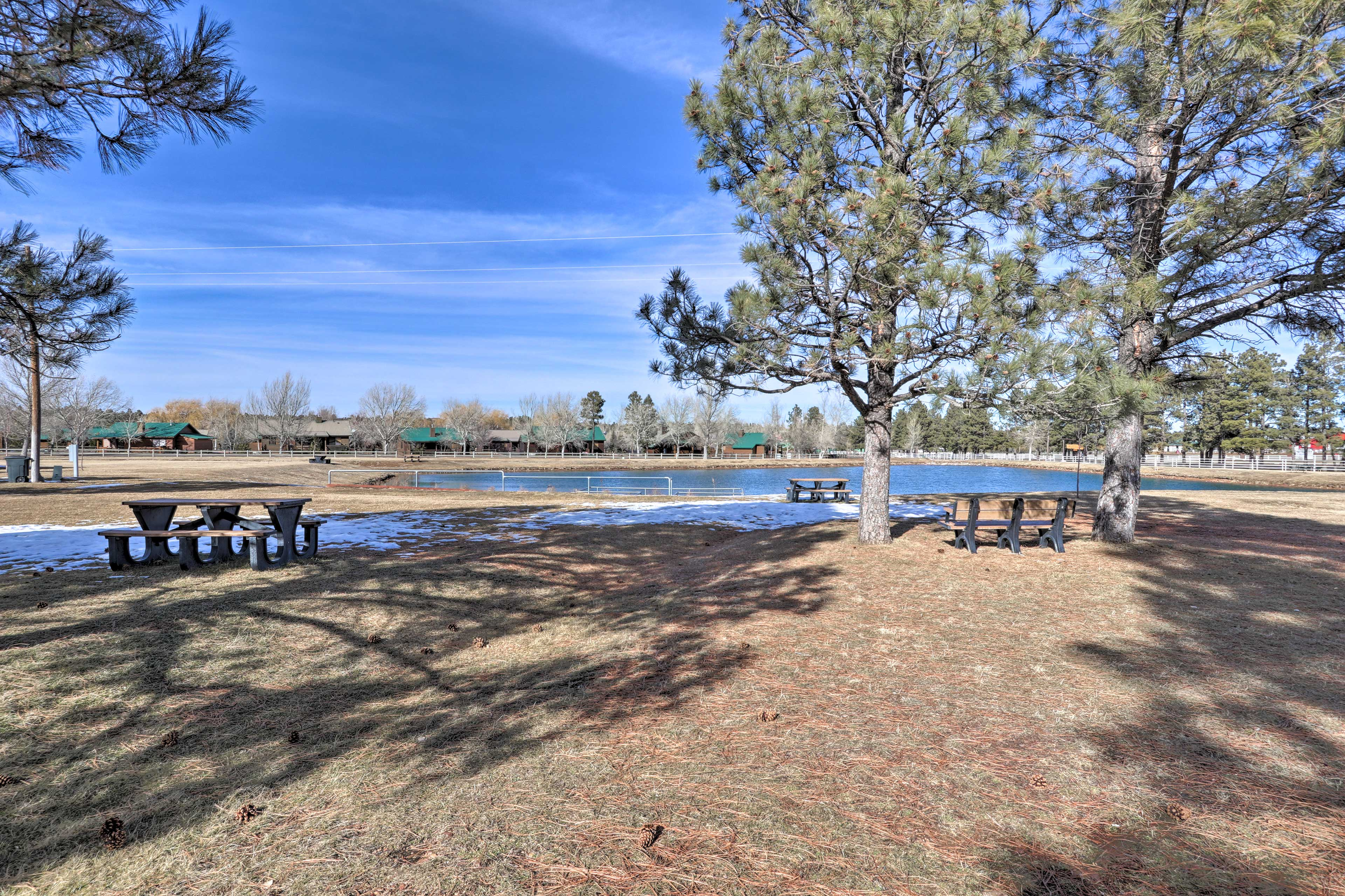 The family-friendly community features picnic tables, a playground, & much more!
