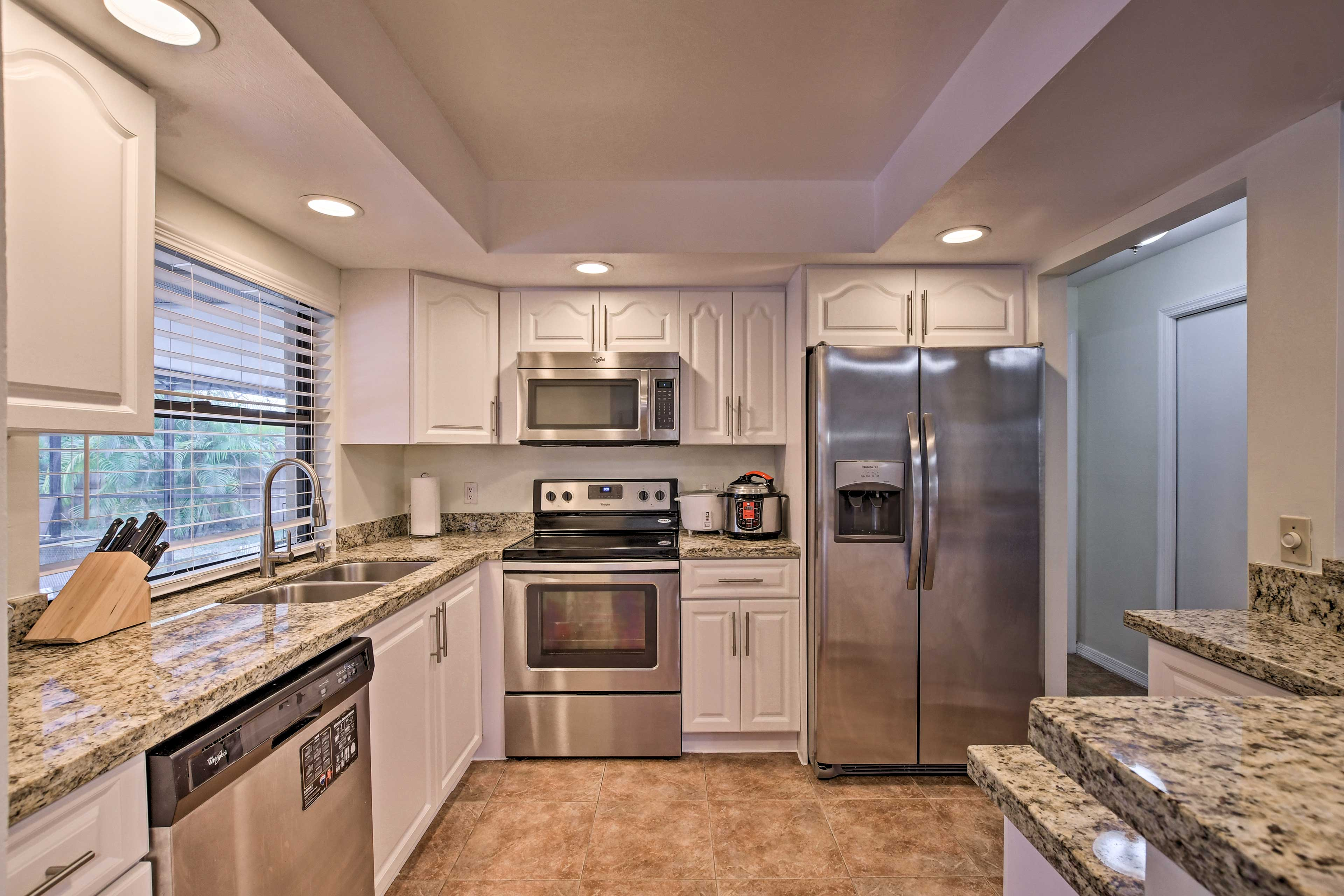 Utilize the stainless steel appliances.