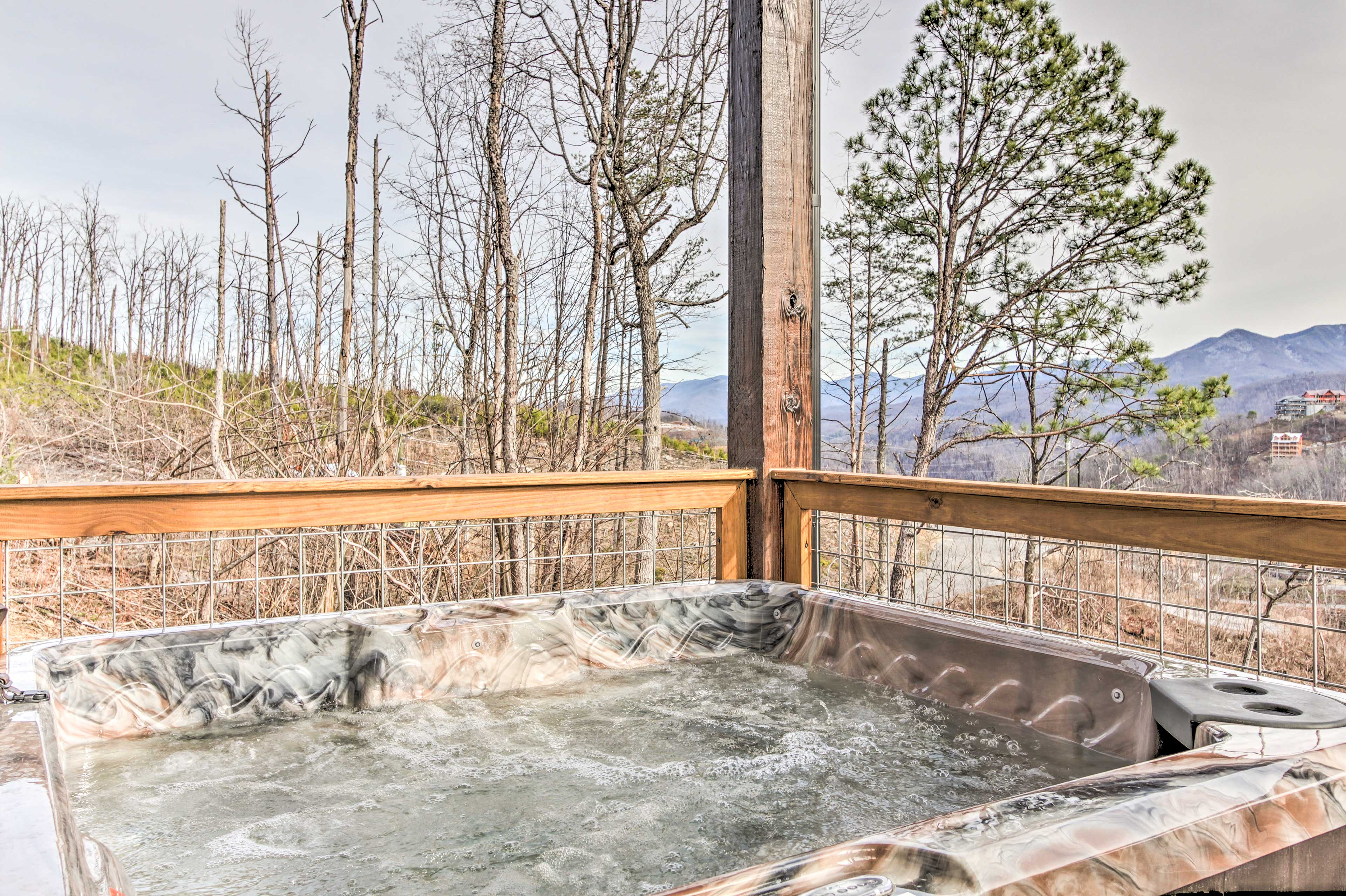 Soak in the tub after a day of walking around Dollywood.