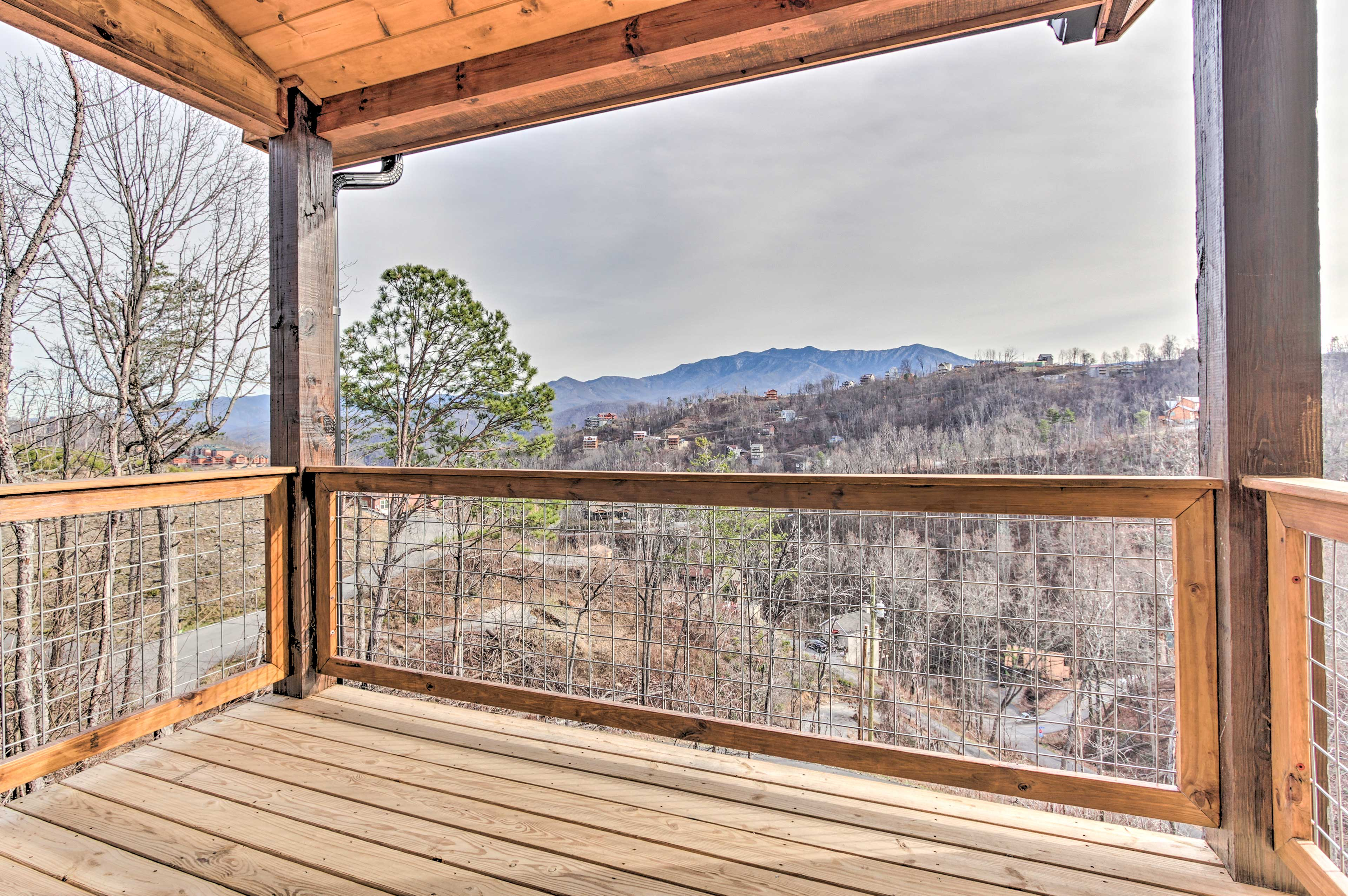 The master balcony lets you get great views of the area and plenty of privacy.