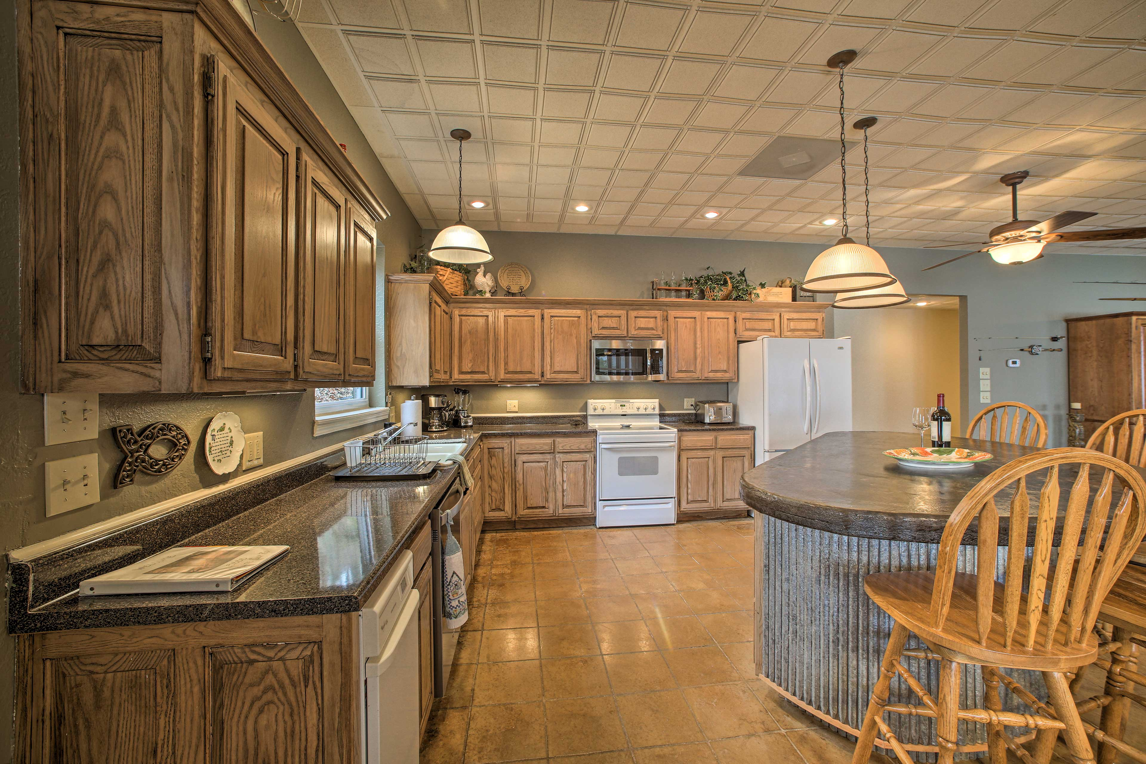 Prepare all your favorite meals or try a new recipe in this modern kitchen.