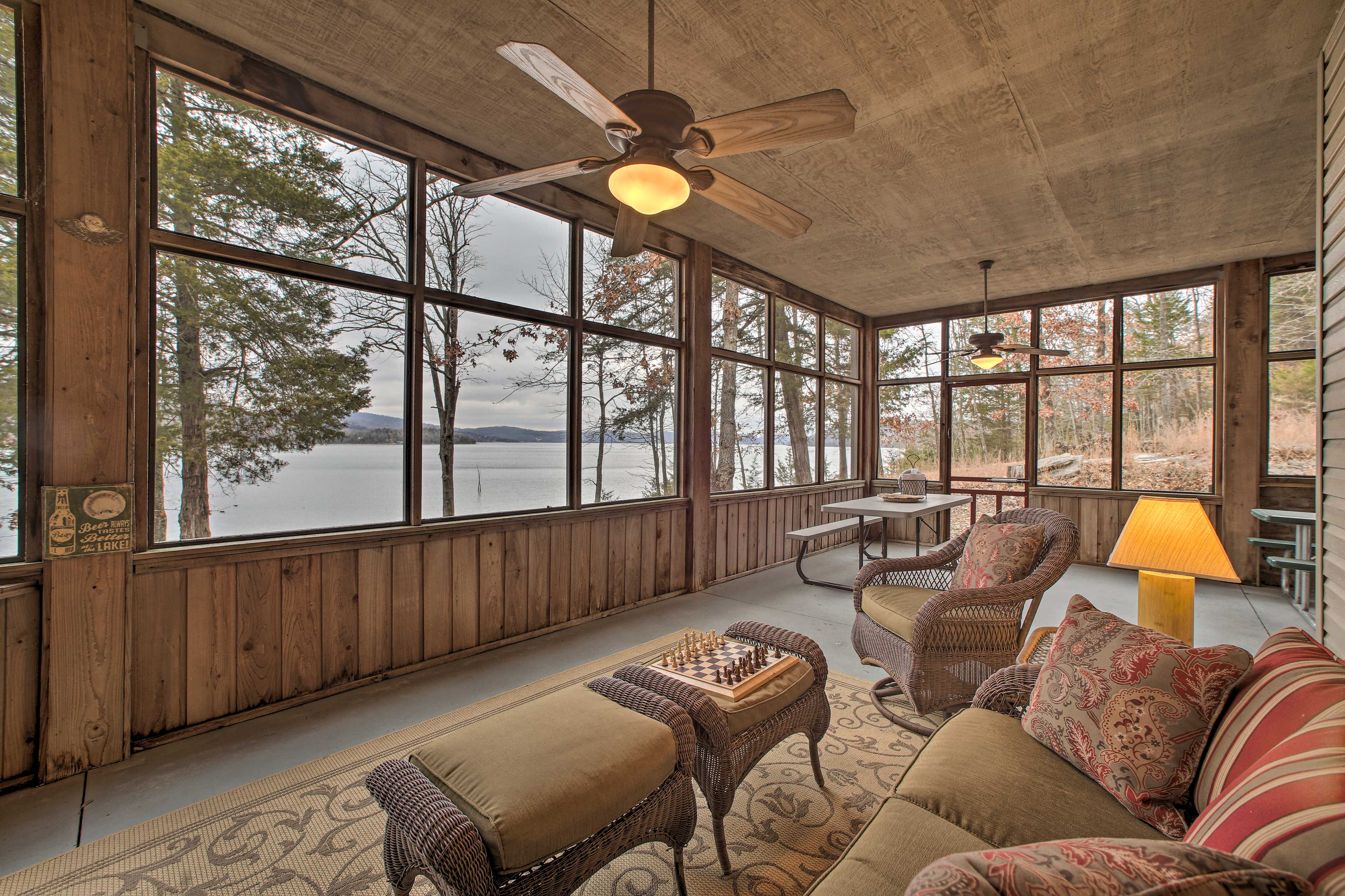 Enjoy the view through the large picture windows lining the walls.